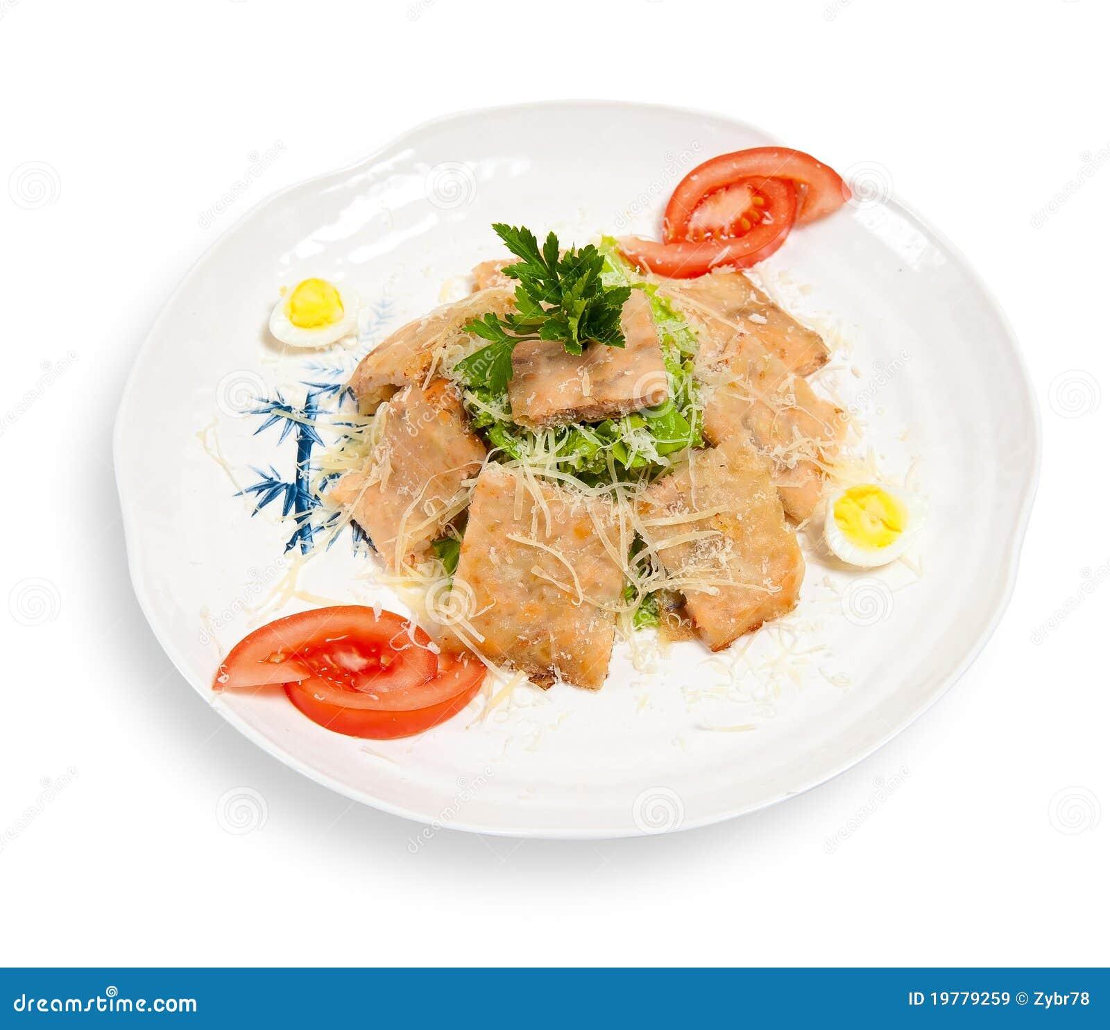 Caesar sallad skivar tonfisk