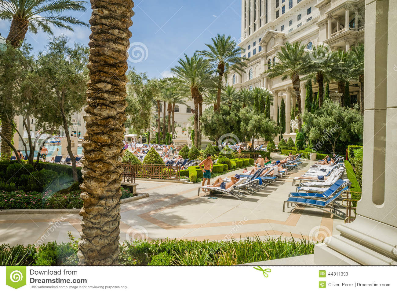 Caesars palace swimming pool area editorial stock photo for Caesars swimming pool