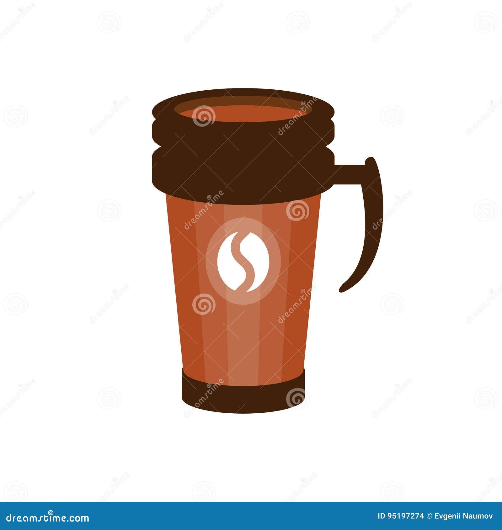 Illustration À Une Dans Brune Vecteur De Café Thermo Emporter sBdhrxtQC
