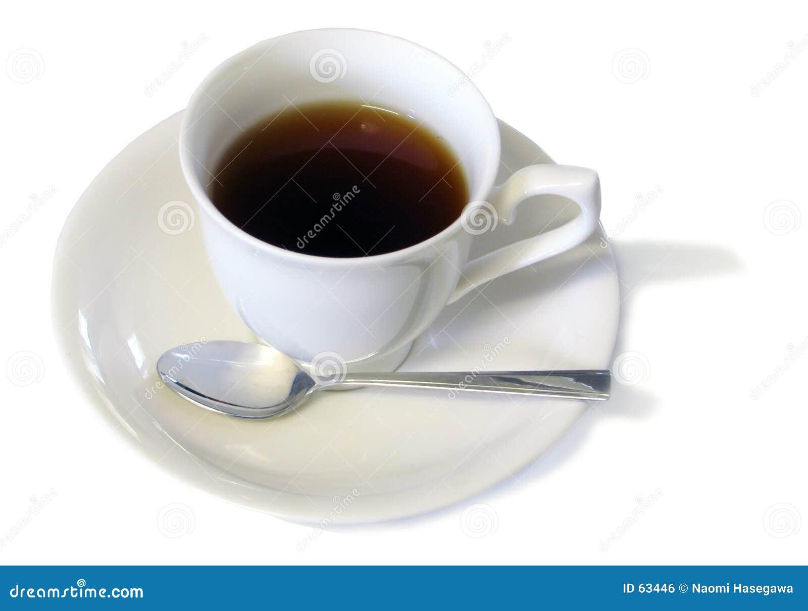Download Café photo stock. Image du boisson, liquide, cuillère, cuvette - 63446