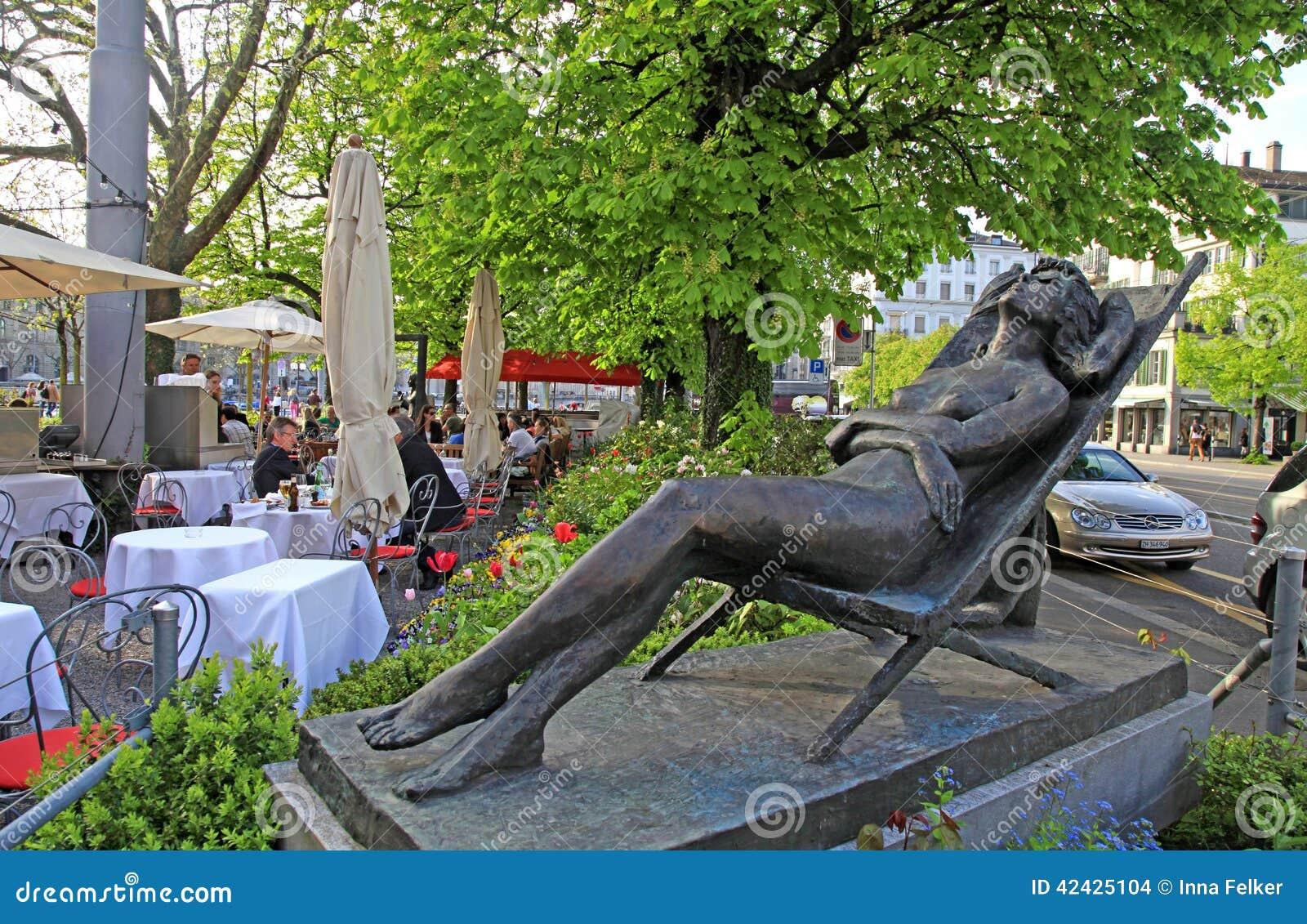 Café al aire libre, Zurich, Suiza