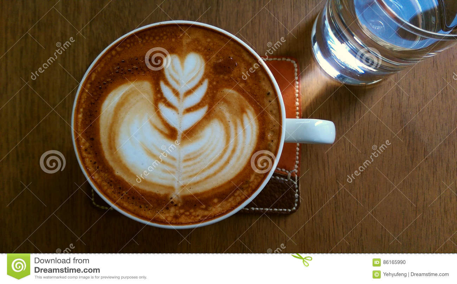 Café avec l art de latte