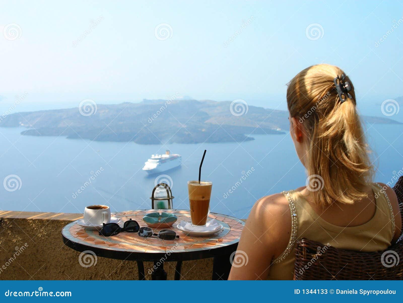 Café avec la vue