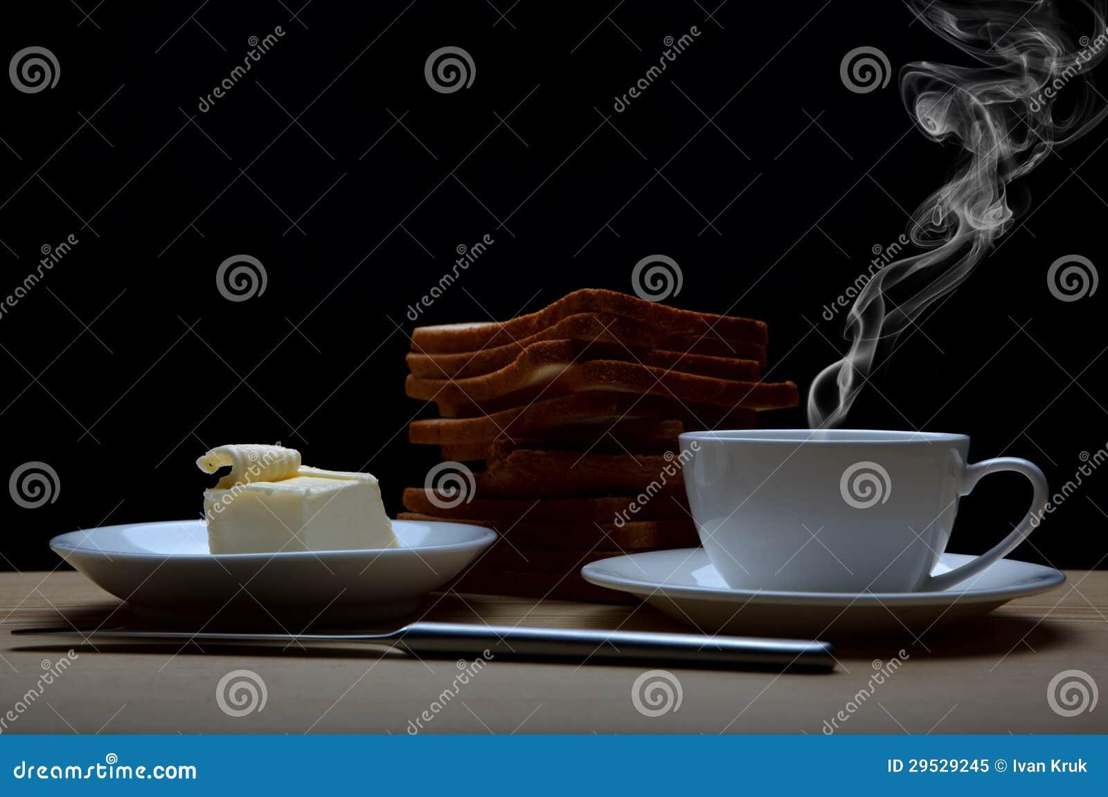 Café, brindes e manteiga