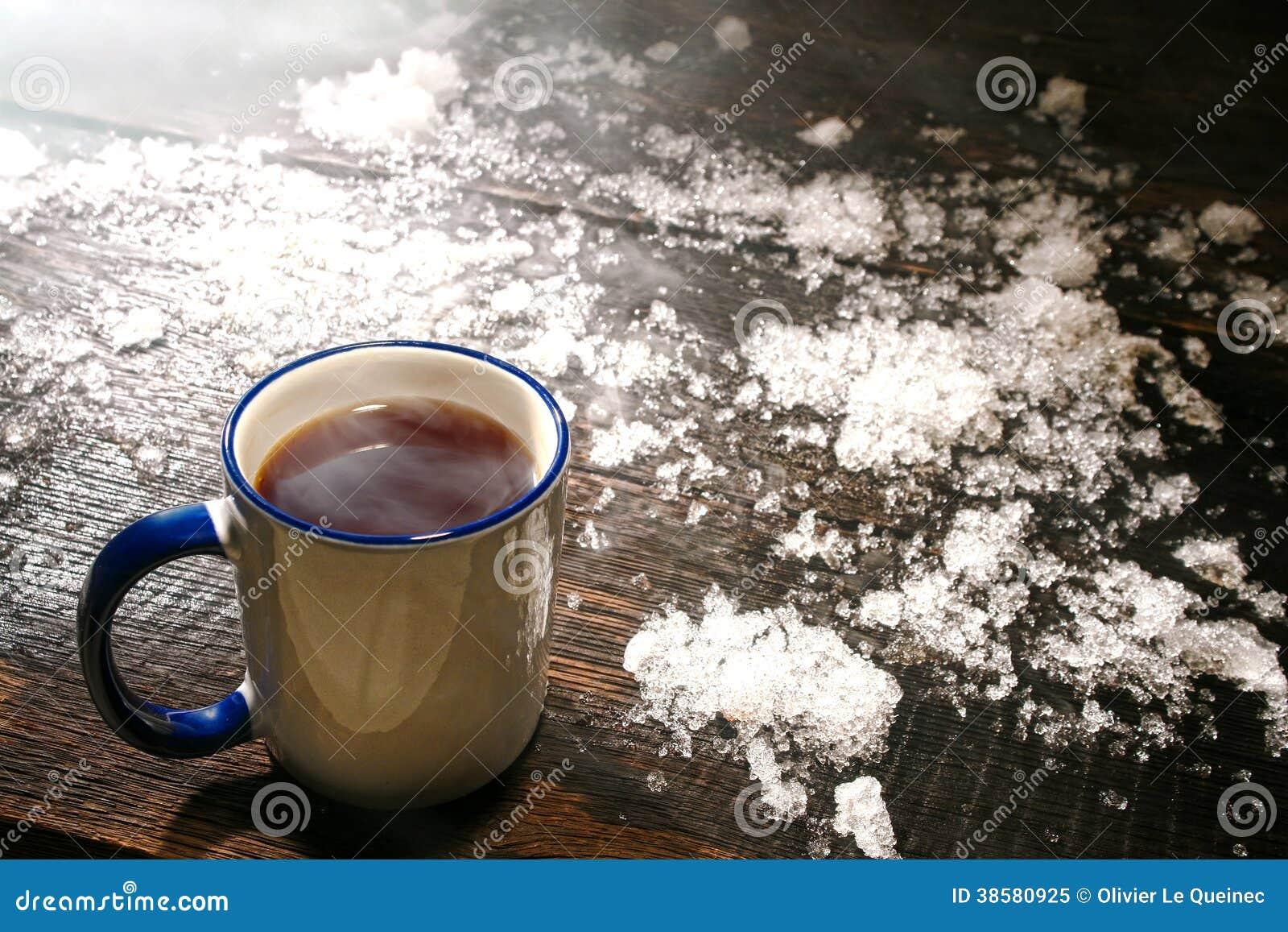 Hoy el desayuno bien caliente-http://thumbs.dreamstime.com/z/caf%C3%A9-caliente-en-taza-del-vintage-y-nieve-en-invierno-fr%C3%ADo-38580925.jpg