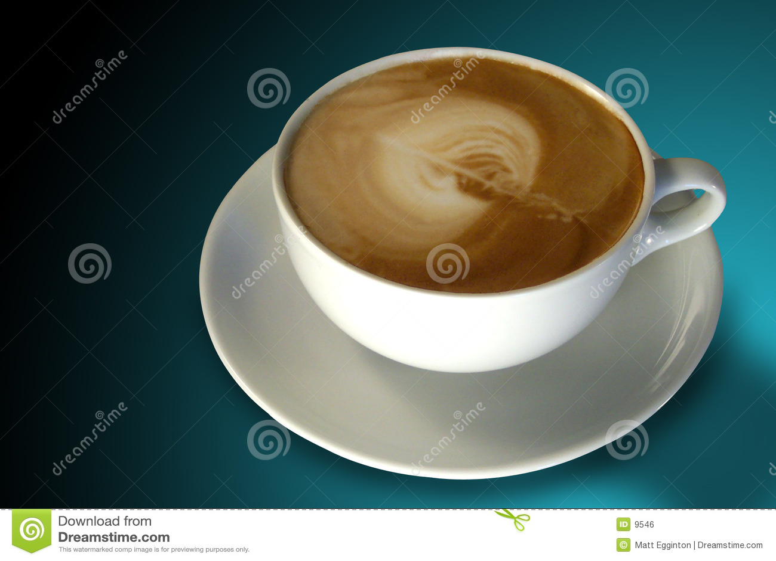 Café (cappuccino) avec l art de Latte