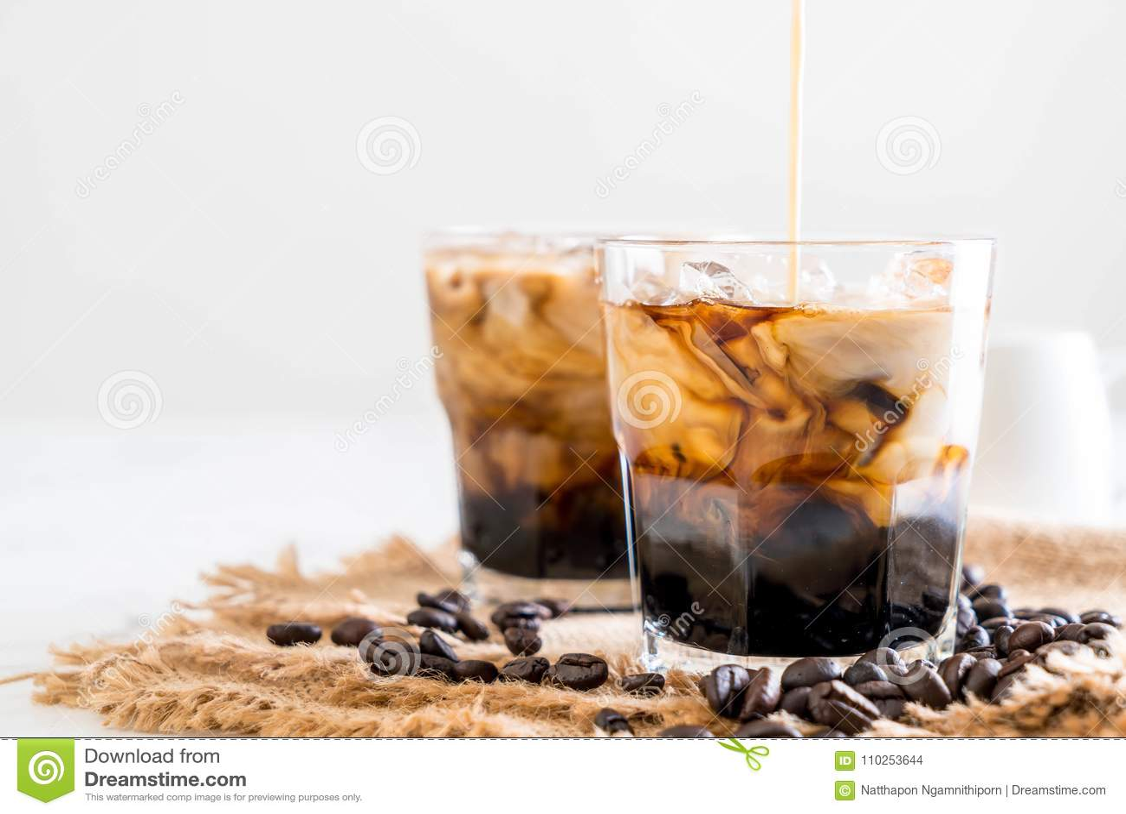 Café congelado com leite