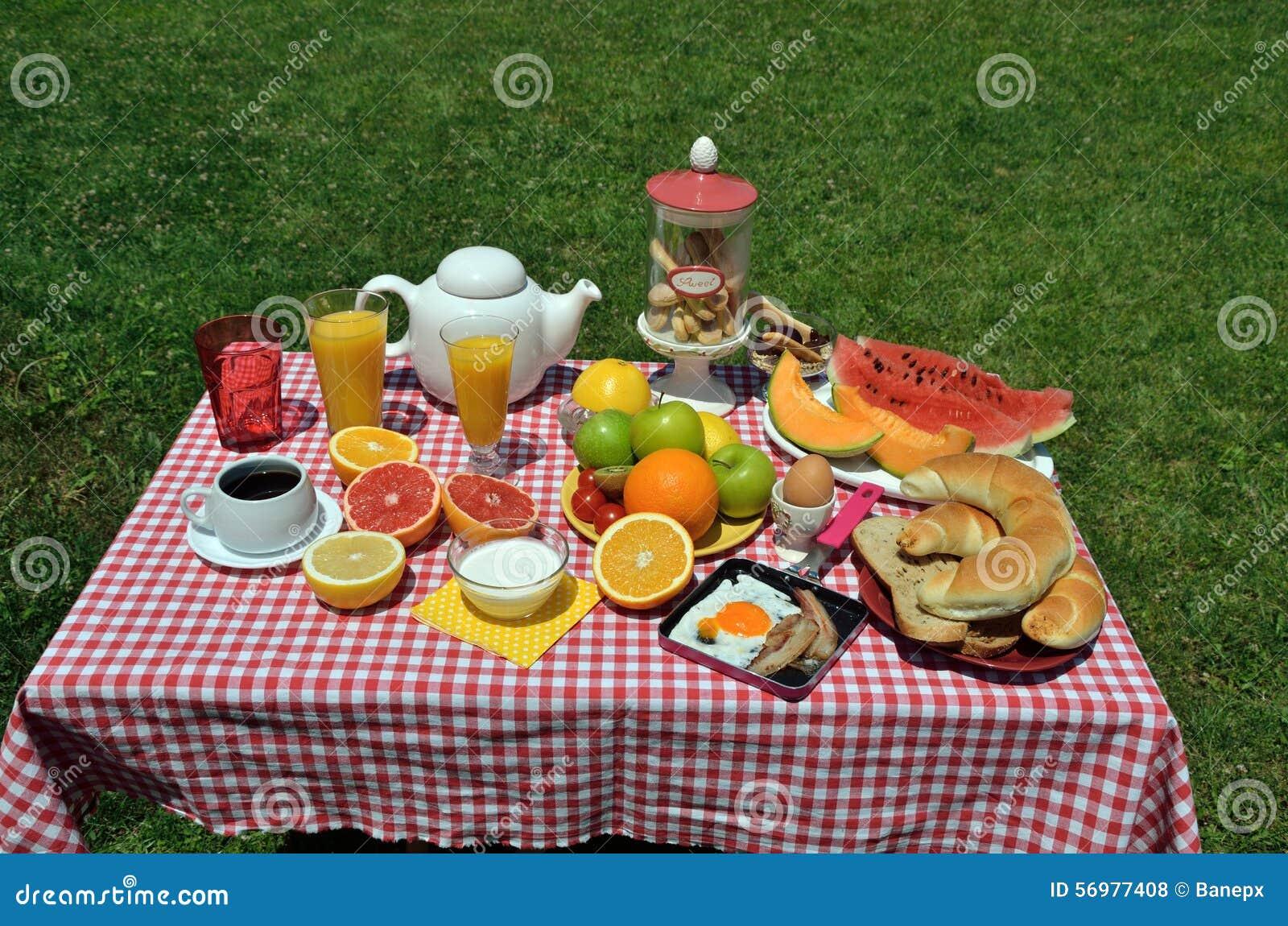 Café da manhã do piquenique