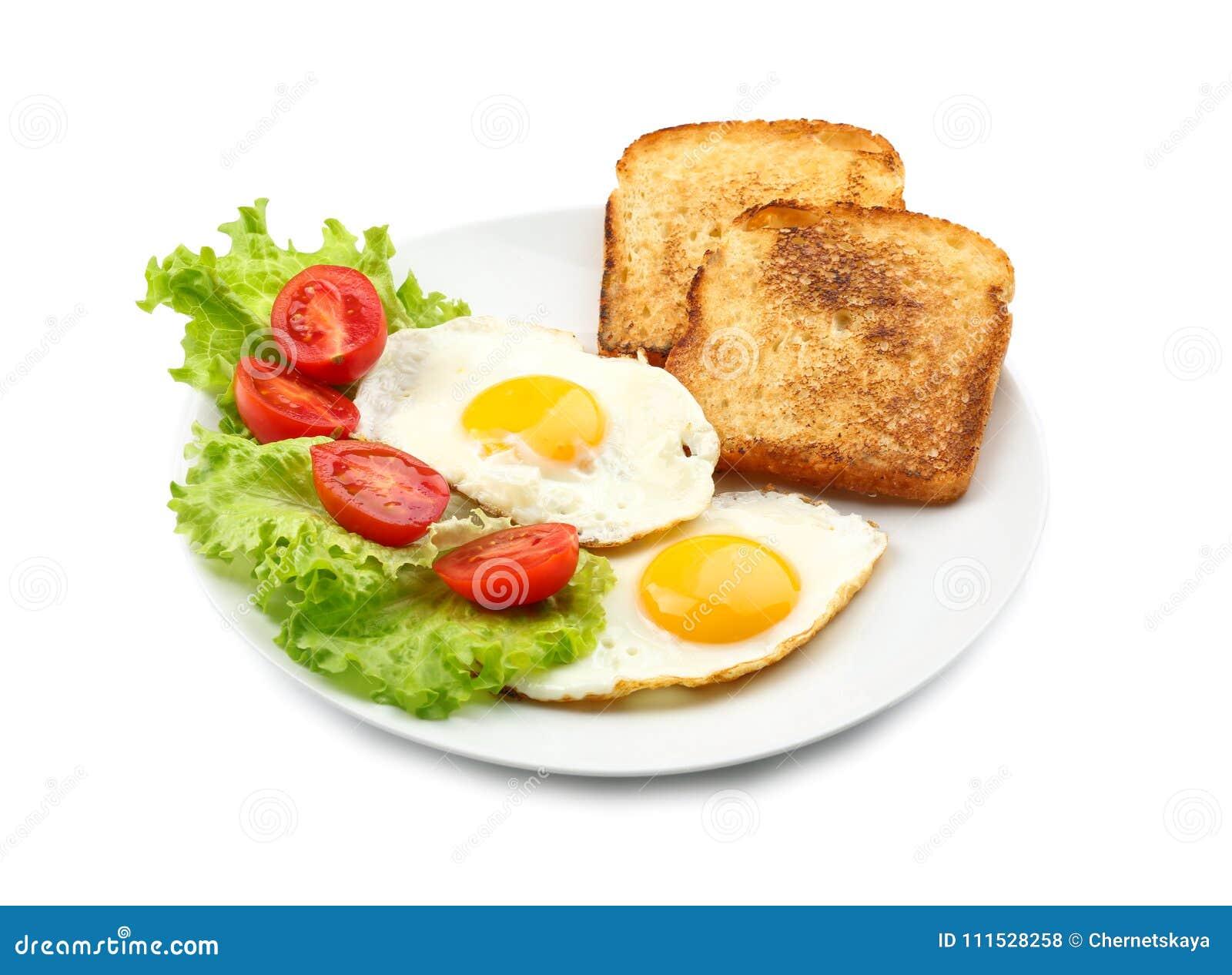 Café da manhã saboroso com ovos fritos