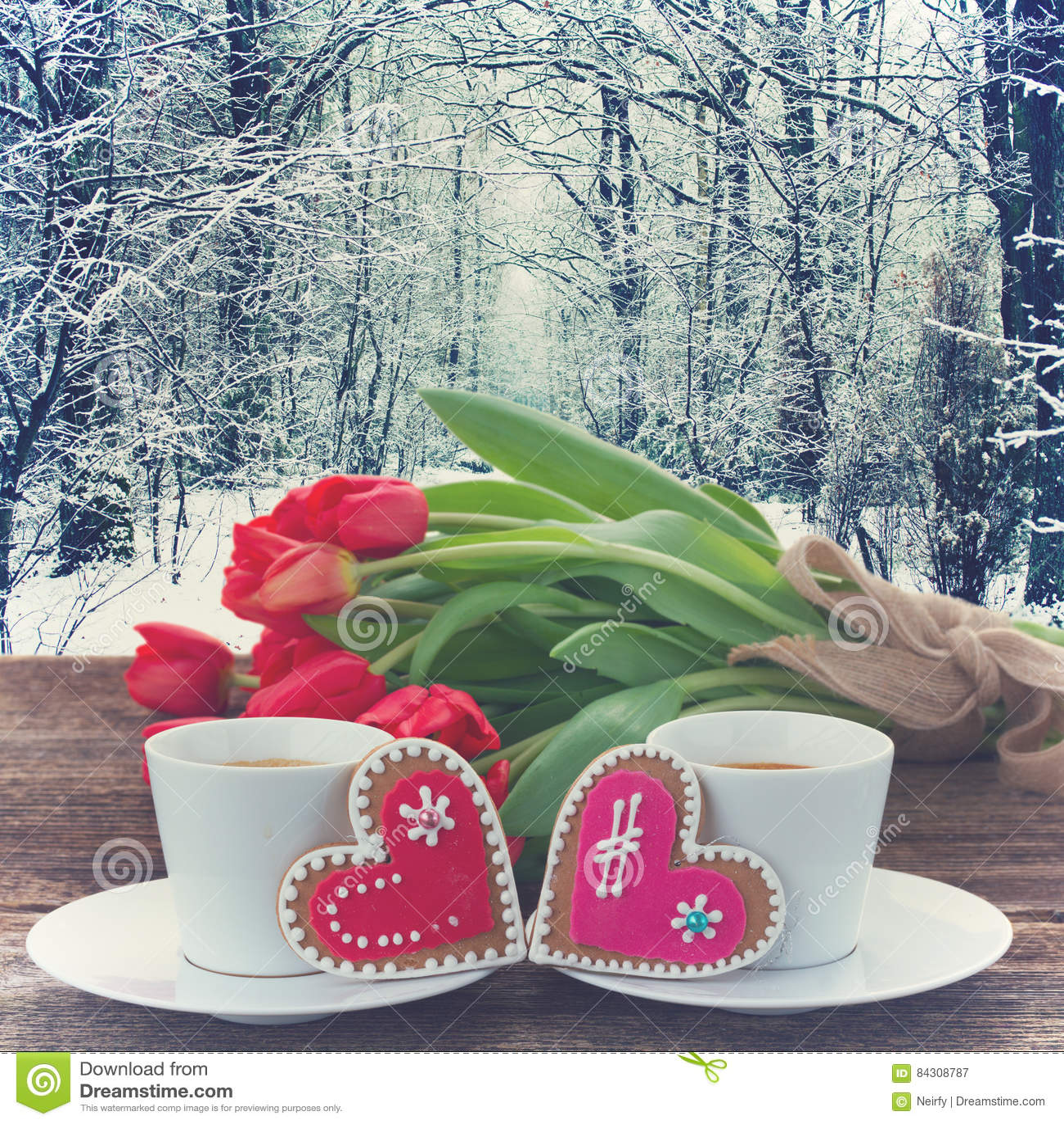 Café do dia de Valentim