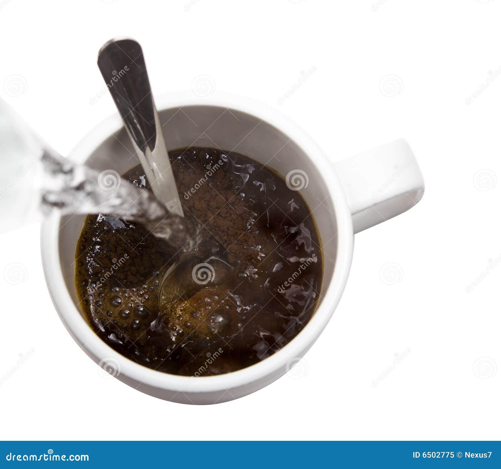 Café e água quente