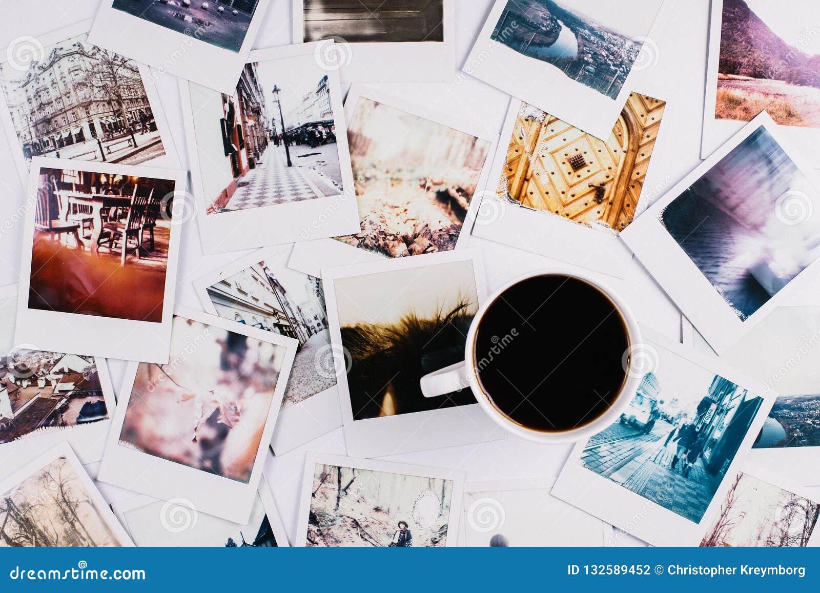 Café e Polaroid