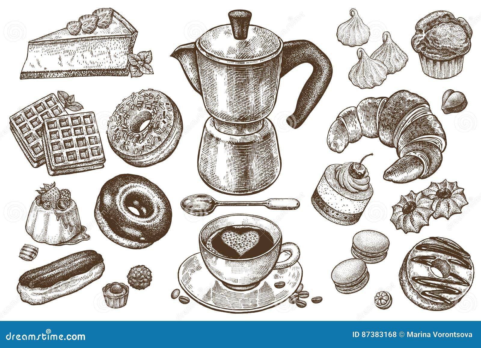 Café e sobremesas ajustados