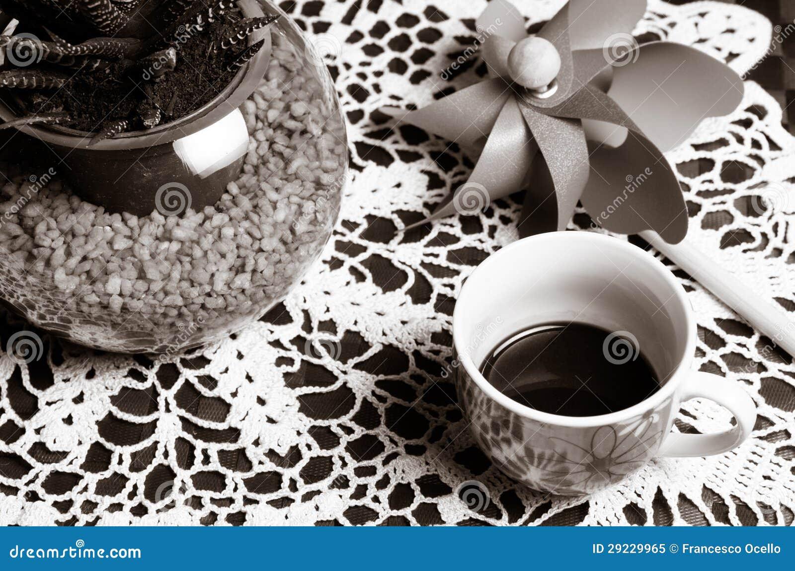 Download Café E Um Moinho De Vento Do Brinquedo Imagem de Stock - Imagem de dentro, elevado: 29229965