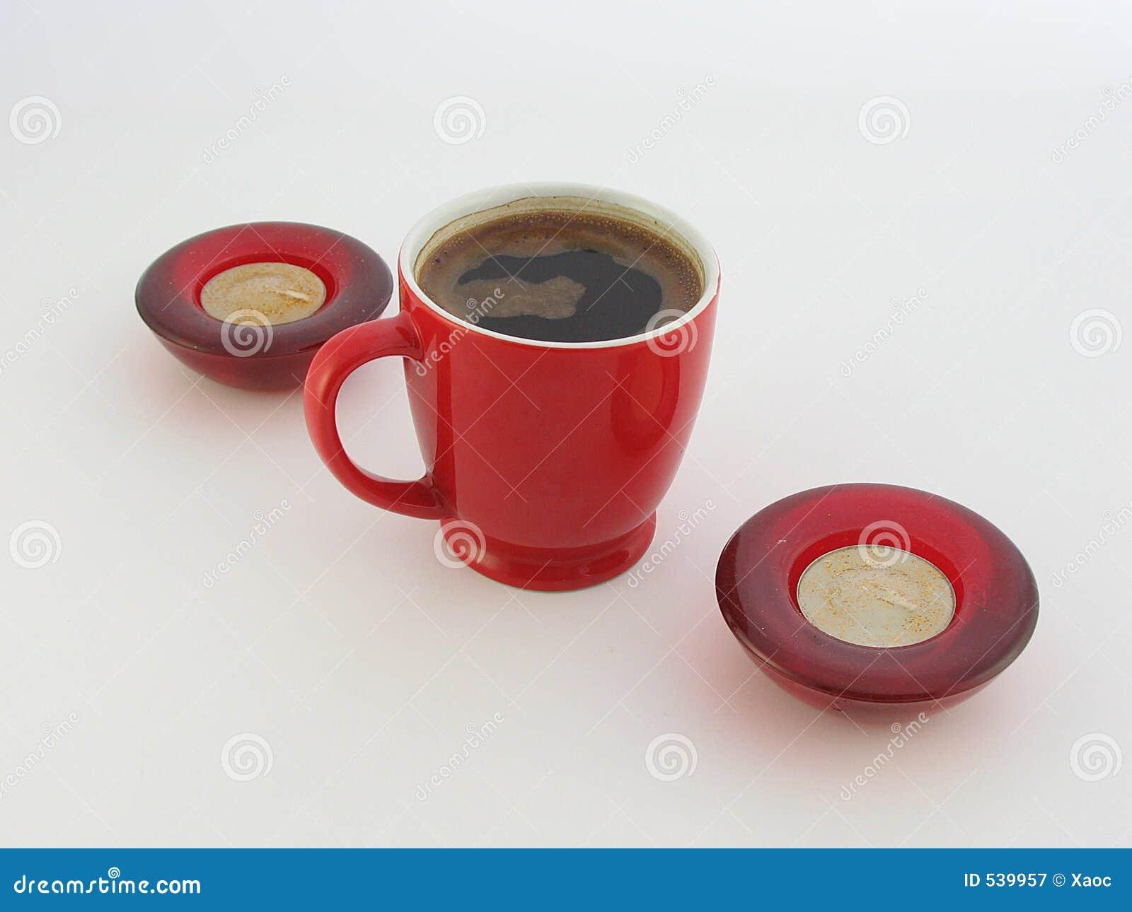 Café e velas