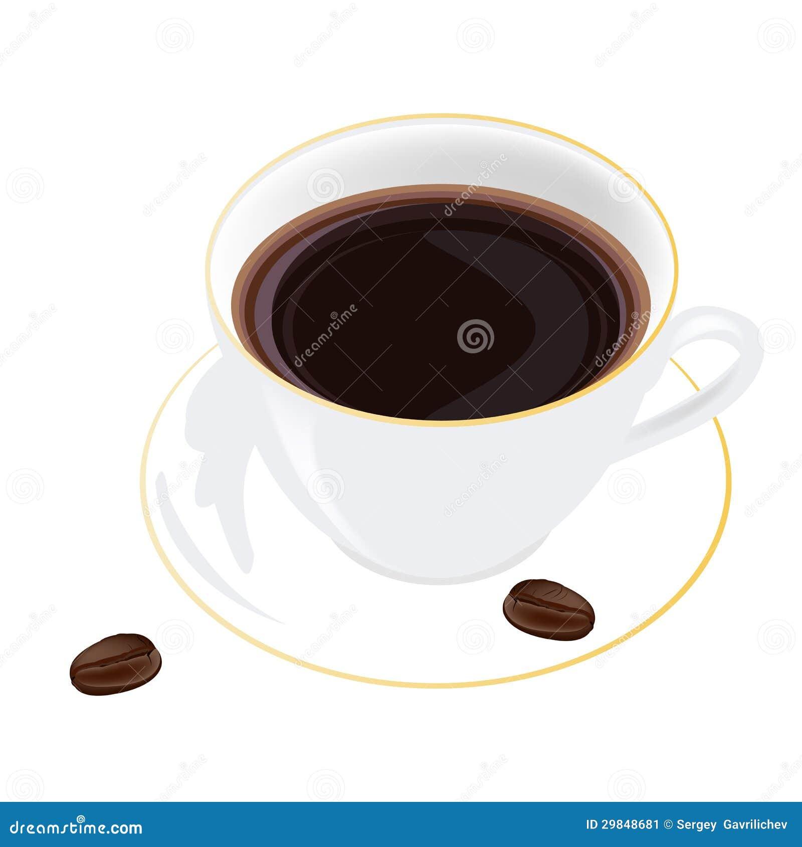 Café em um fundo branco