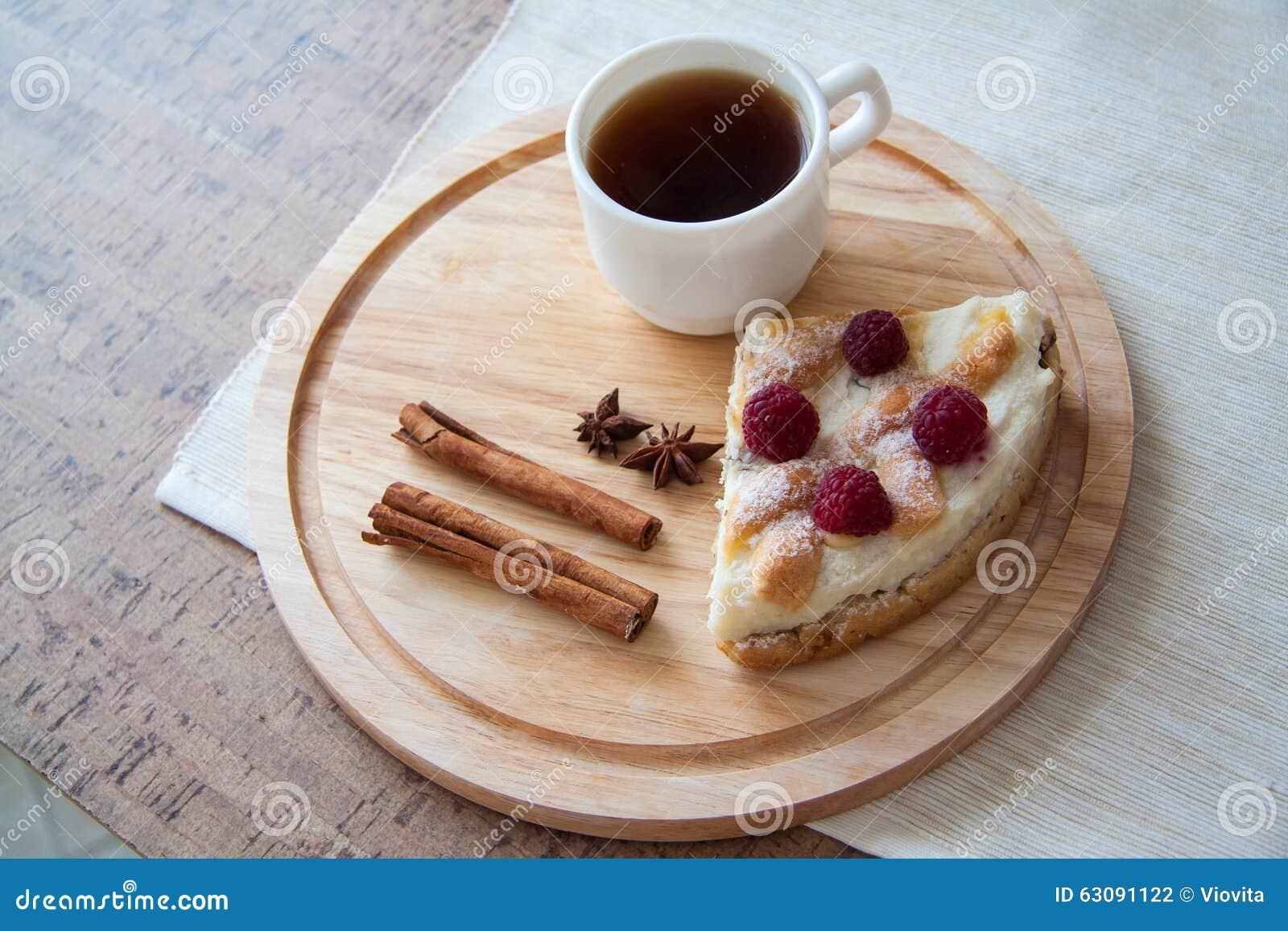 Download Café Et Quiche Delicous De Fromage Photo stock - Image du baie, floconneux: 63091122