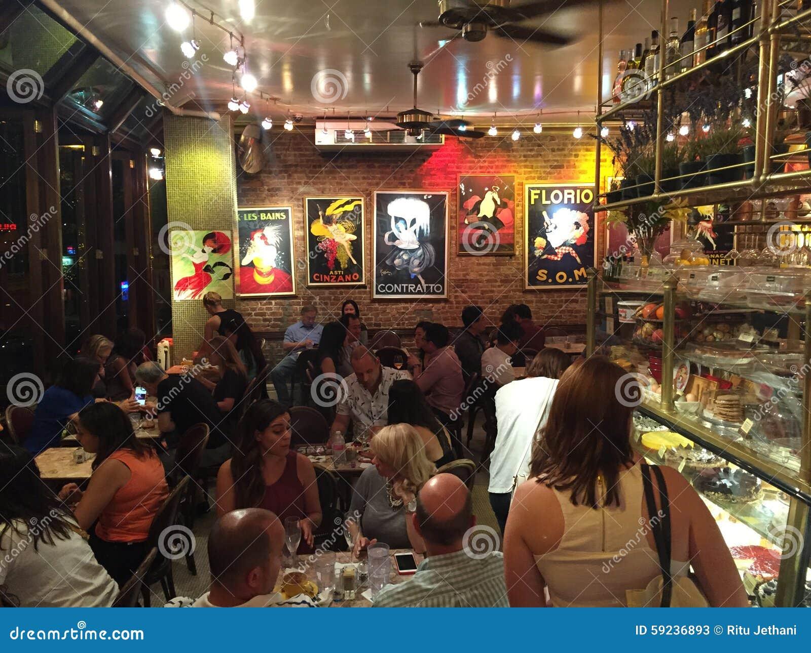 Download Café Lalo en New York City foto de archivo editorial. Imagen de herencia - 59236893