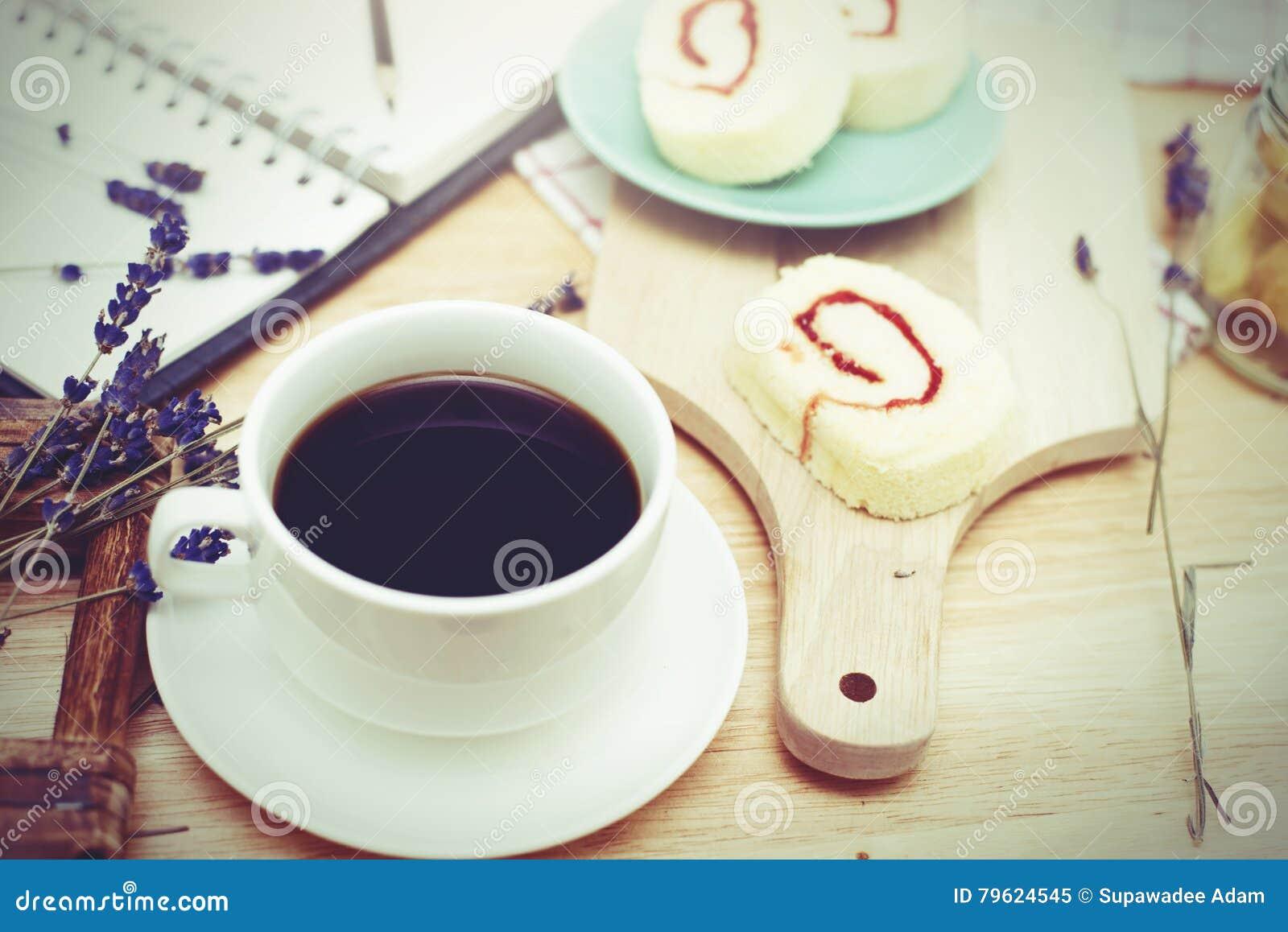 Café preto com bekery