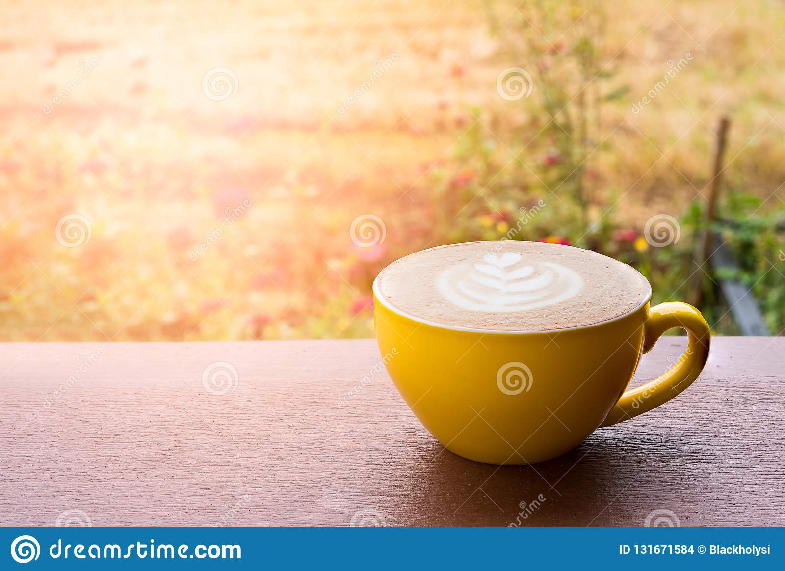 Café quente do latte