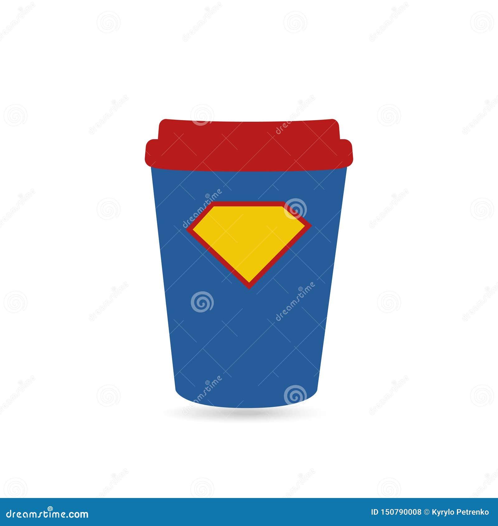 Café super para o copo do poder do super-herói
