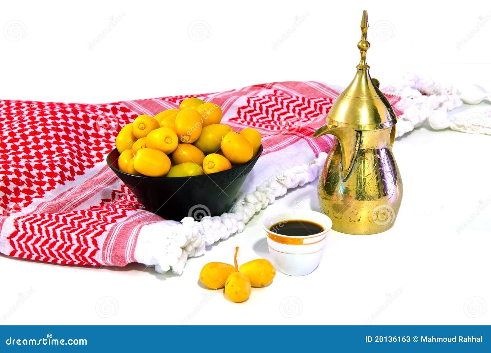 Caf arabe avec le fruit de datte photos stock image for Portent fruit