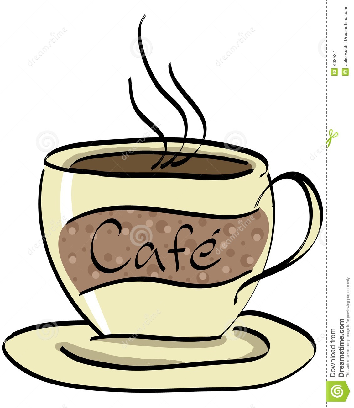 Coffee cup illustration drawn in illustrator.