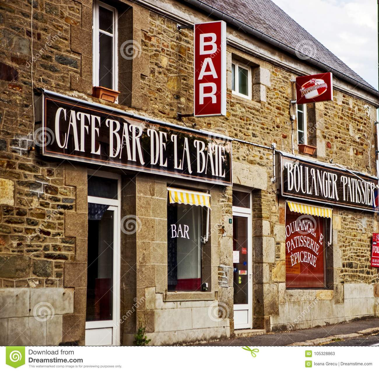 Cafe bar in Cherbourg, France