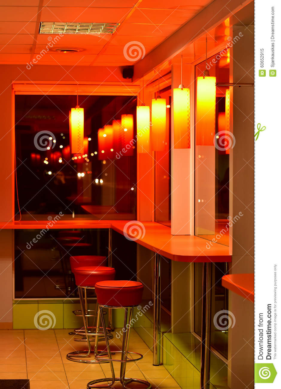 cafe bar interior night scene stock photo - image: 60652915