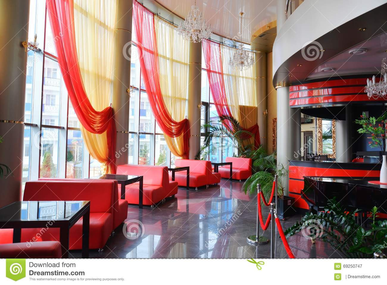 Cafe, Bar An Interior, Without People Stock Image - Image of club ...