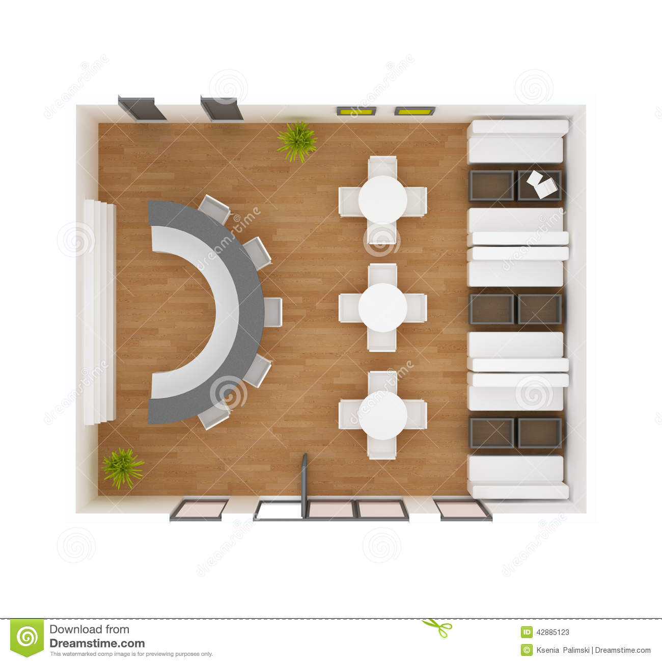 Cafe Bar Restaurant Floor Plan Stock Illustration - Image: 42885123