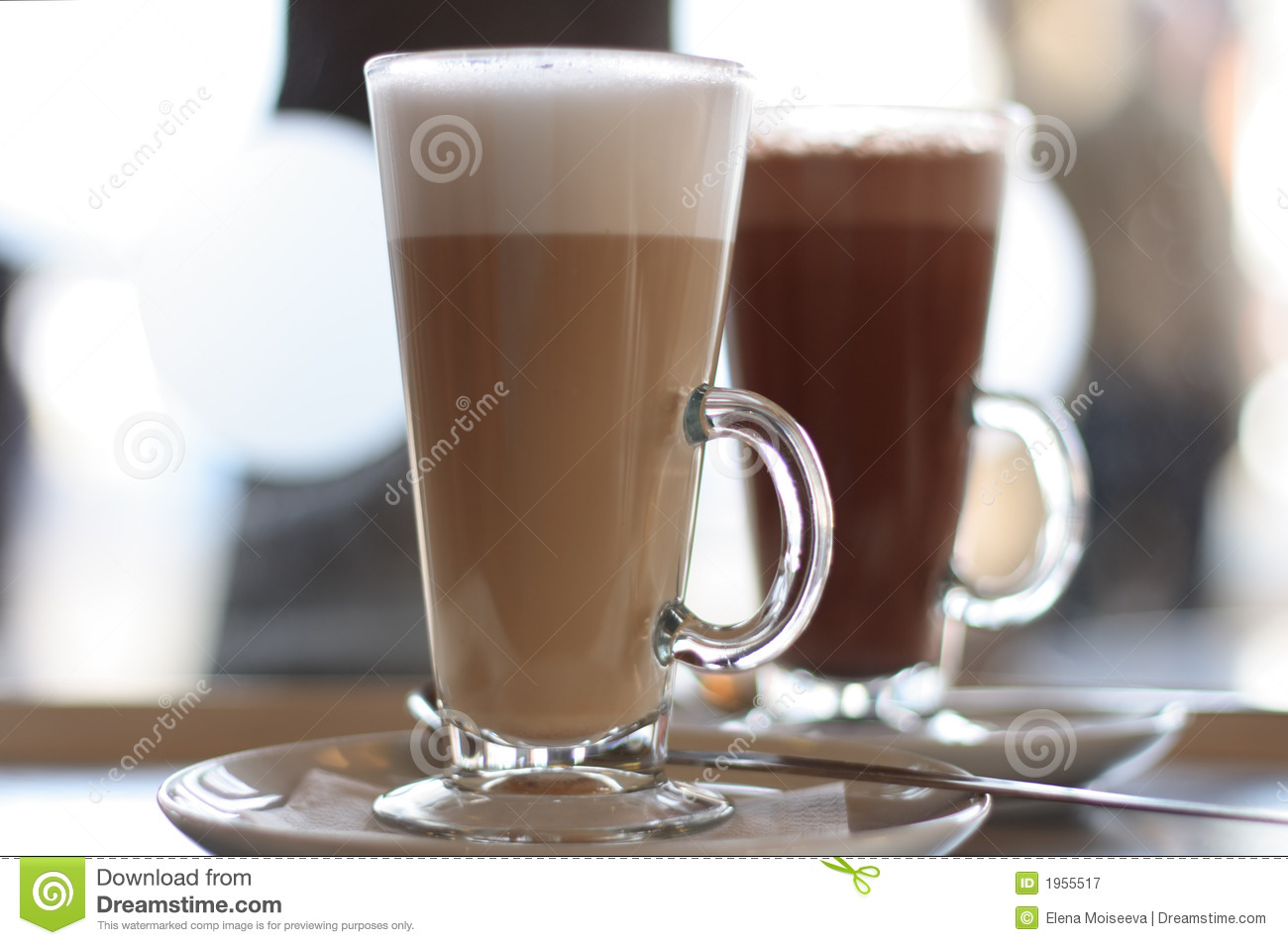 cafe coffee latte in glass royalty free stock photography