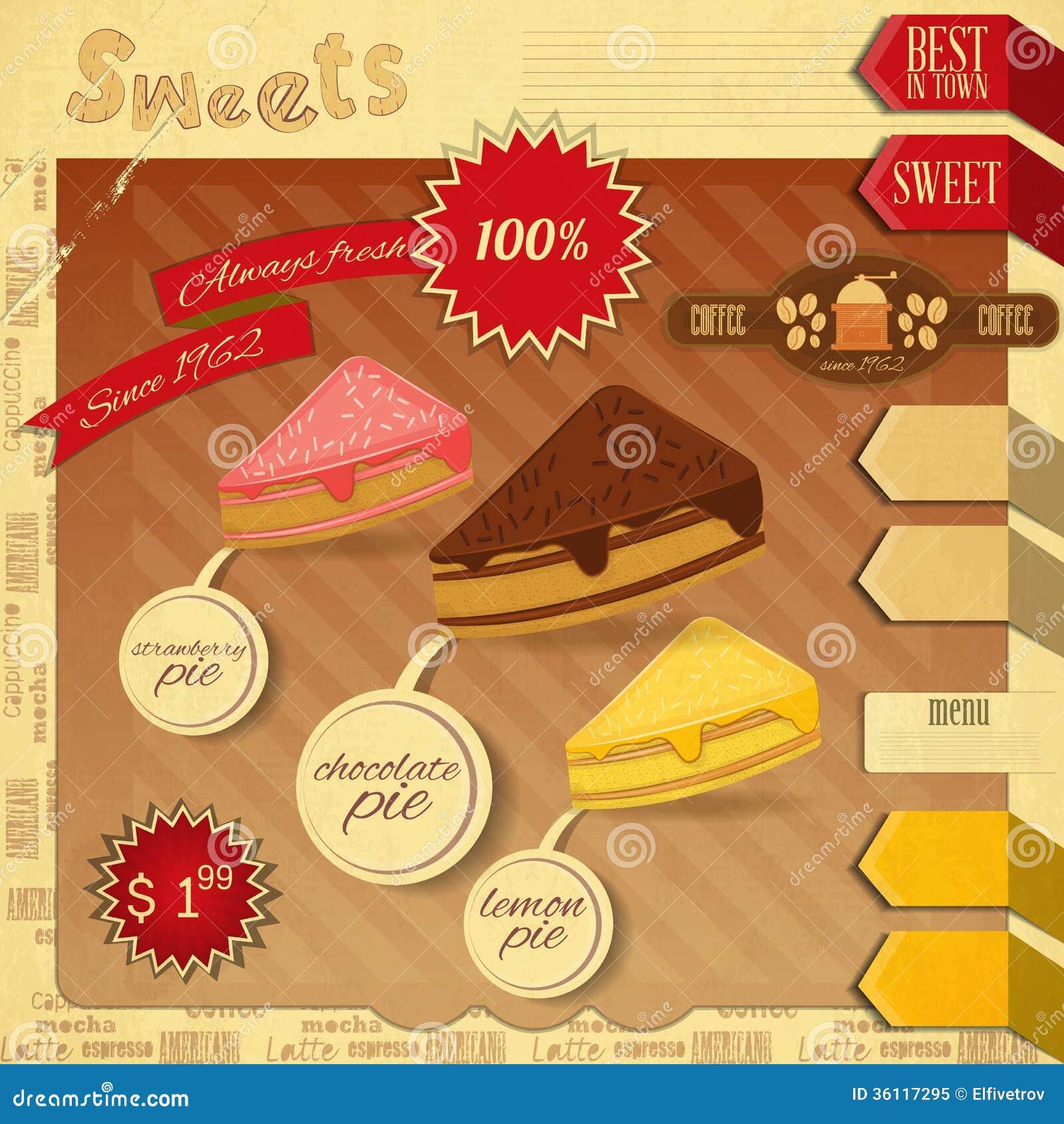menu brochure template