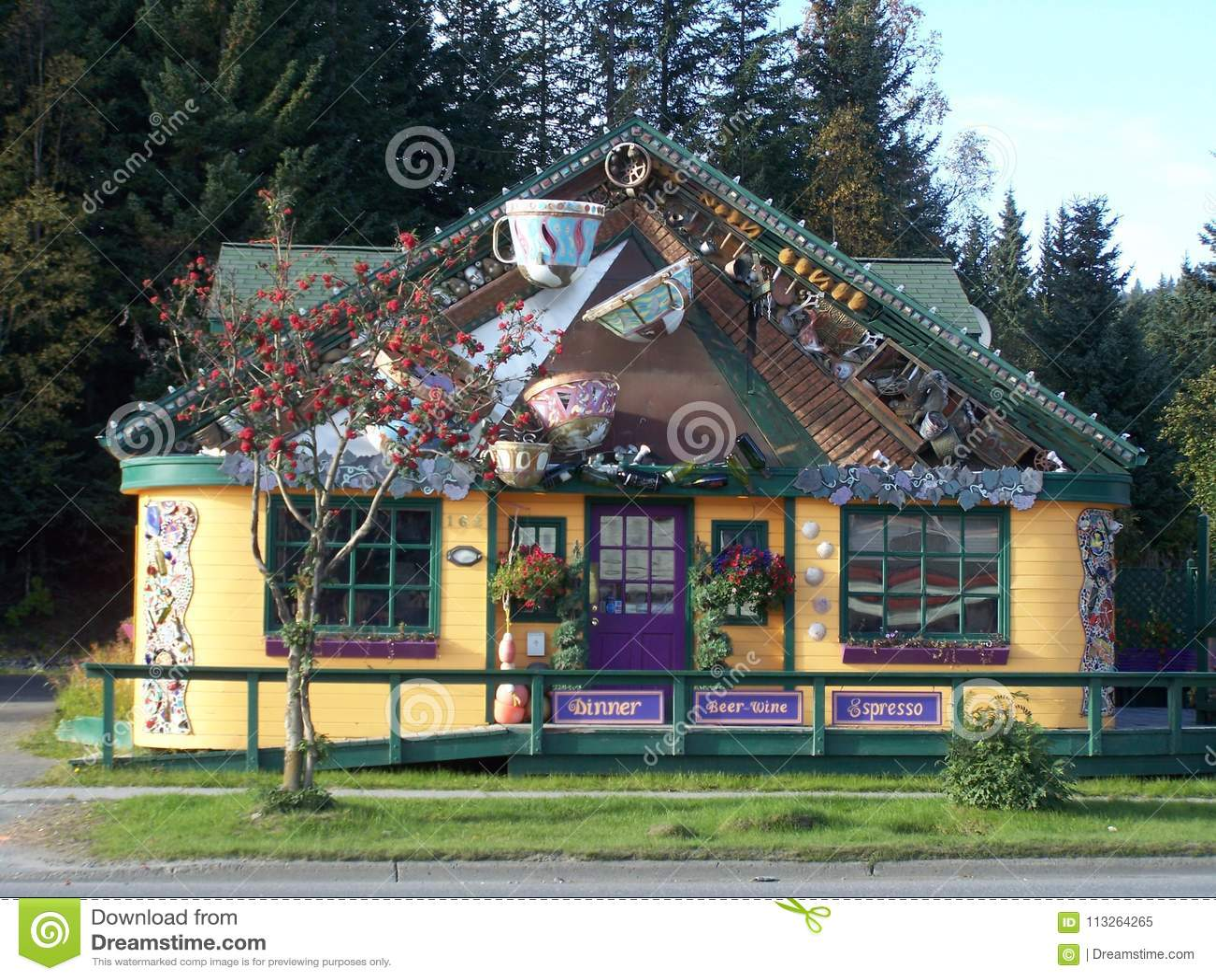 Cafe Cups Restaurant In Homer Alaska Editorial Image - Image