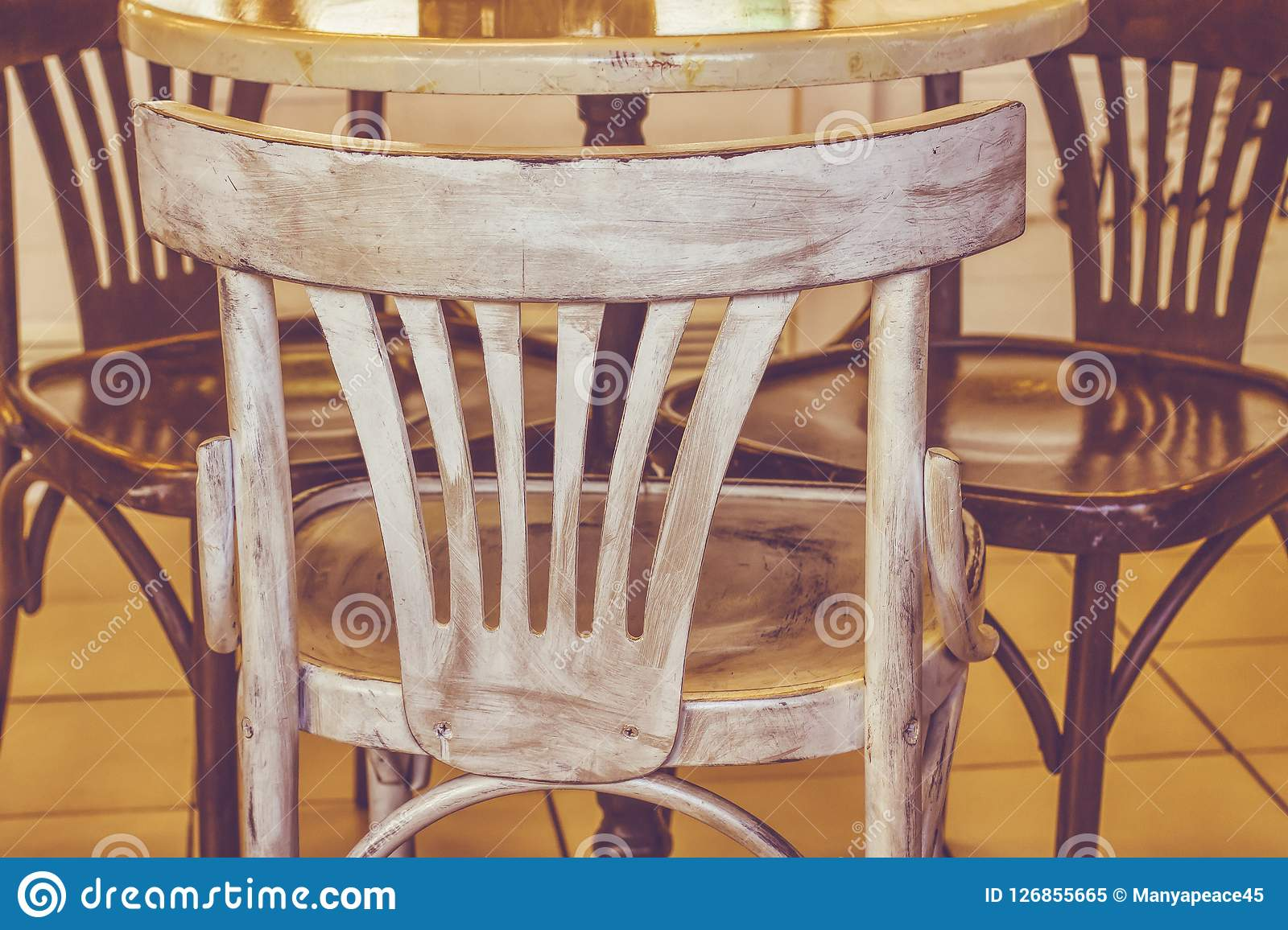 Cafe Design Restaurant Interior Vintage Ordinary Chairs Stock Image Image Of Cafe Brown 126855665
