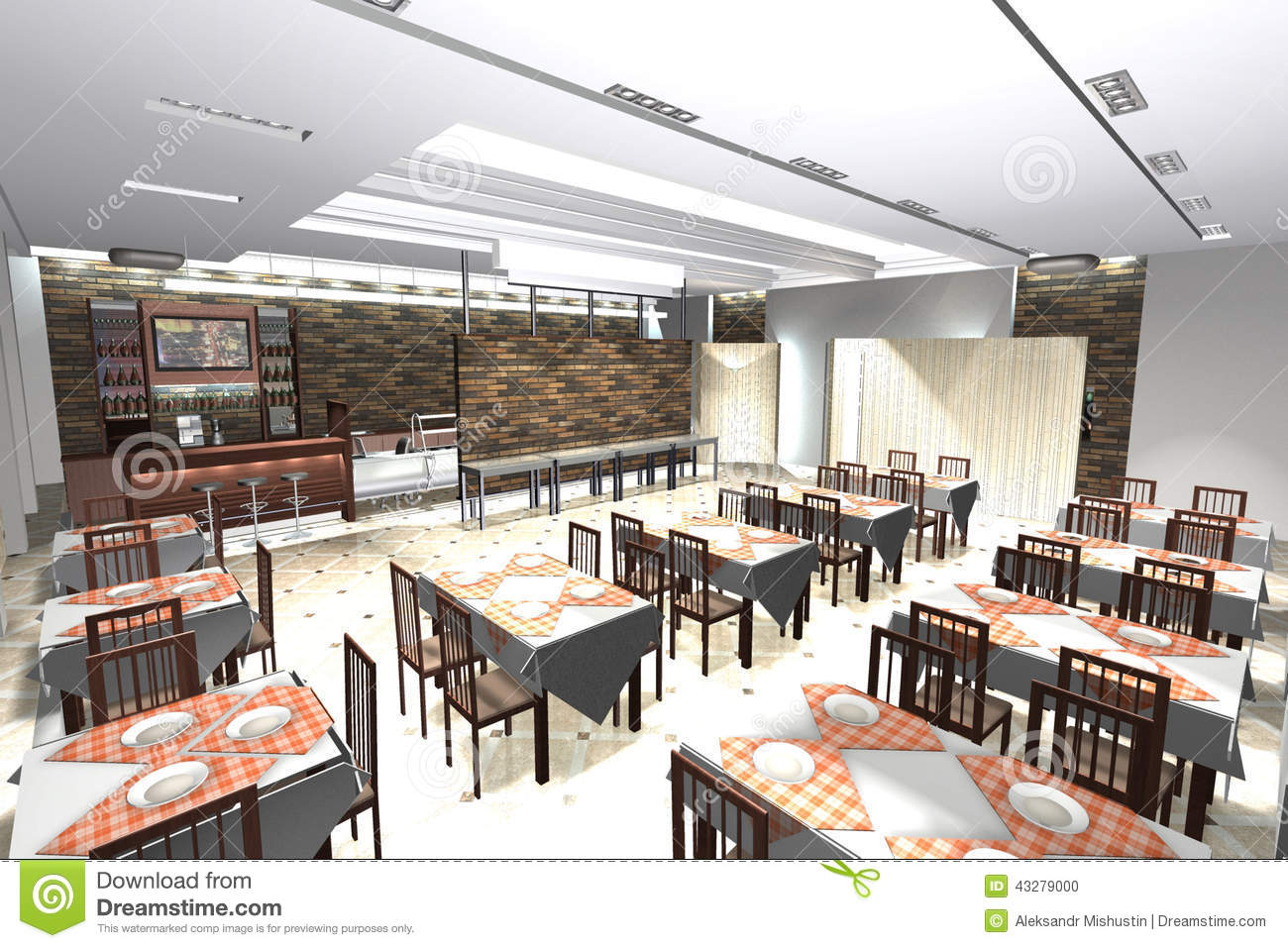 cafe interior stock illustration illustration of architectureinterior color slide premises of a small cafe