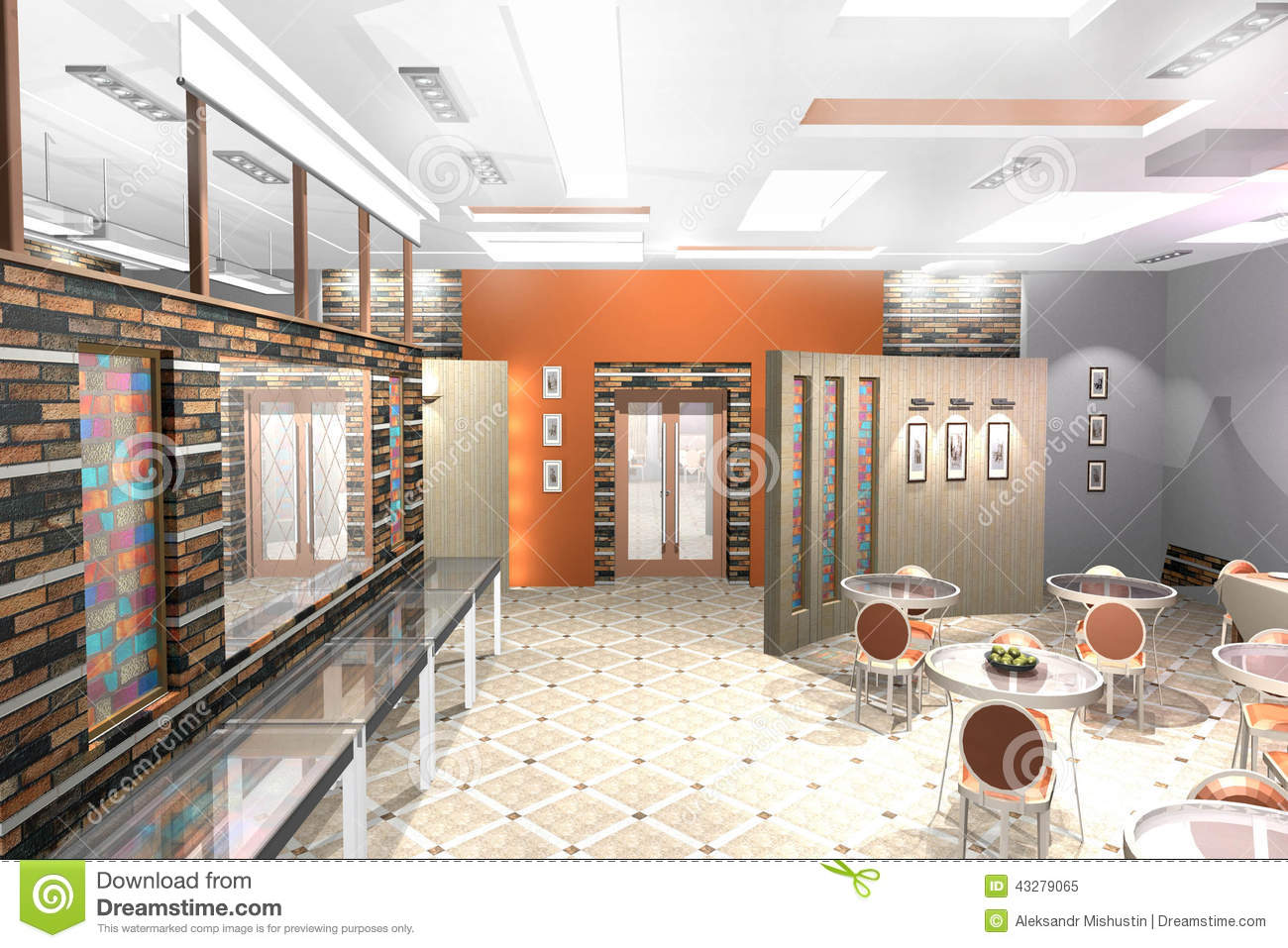 cafe interior stock illustration illustration of volume 43279065interior color slide premises of a small cafe