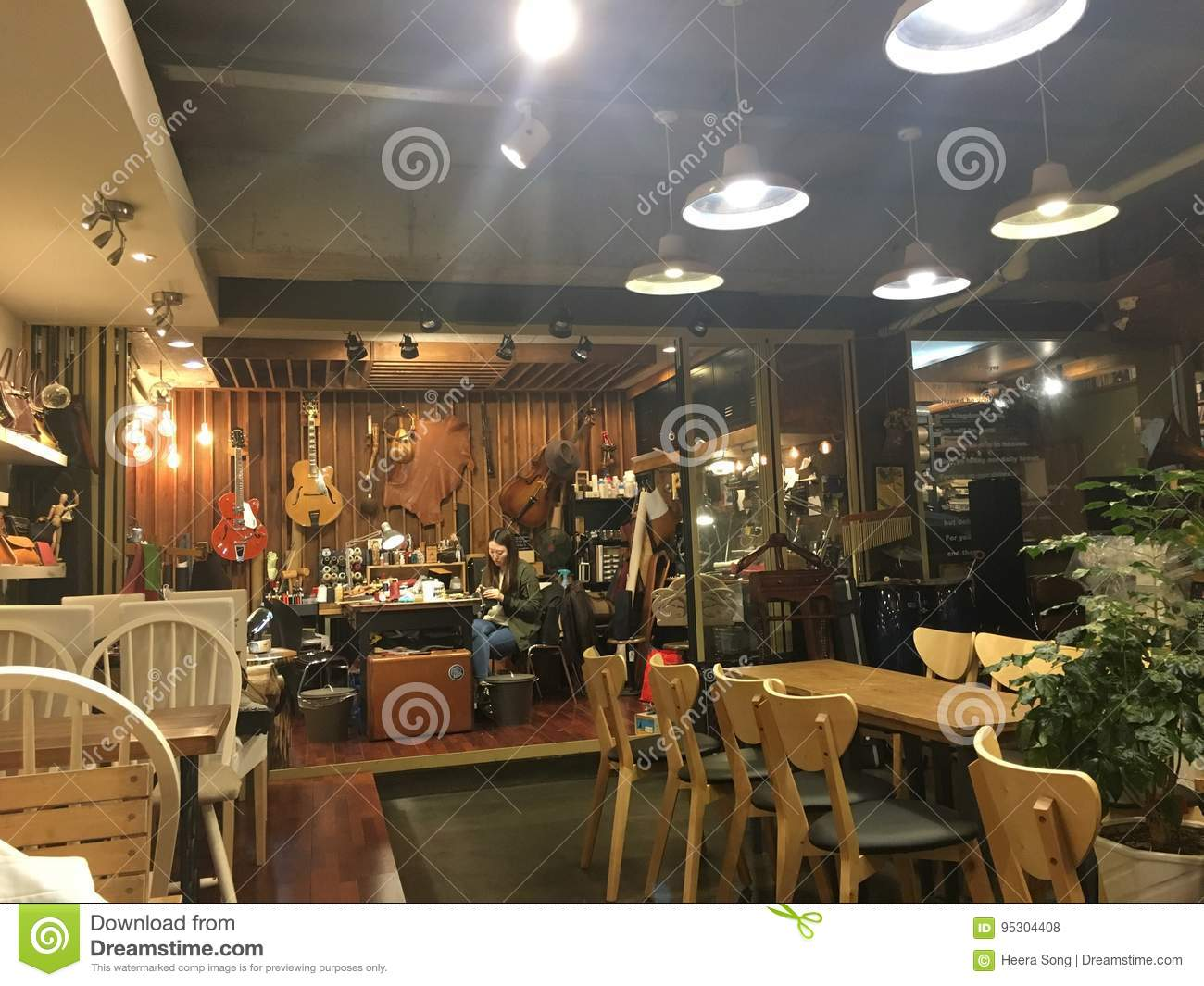 Cafe Interior Hand Craft Shop Editorial Stock Photo Image Of