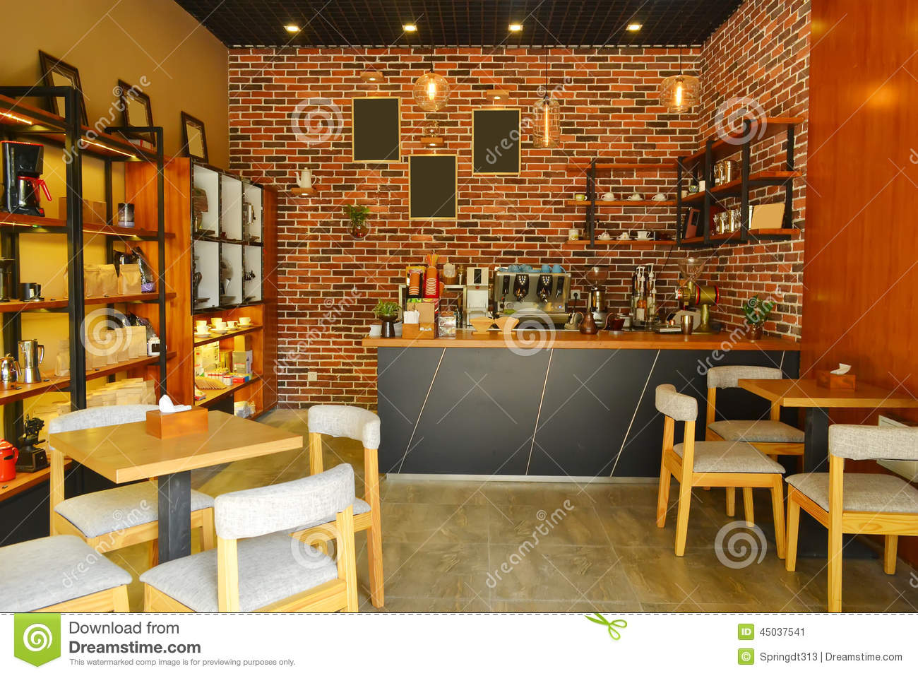 Cafe interior stock image image of entertainment wine for Deco de interiores