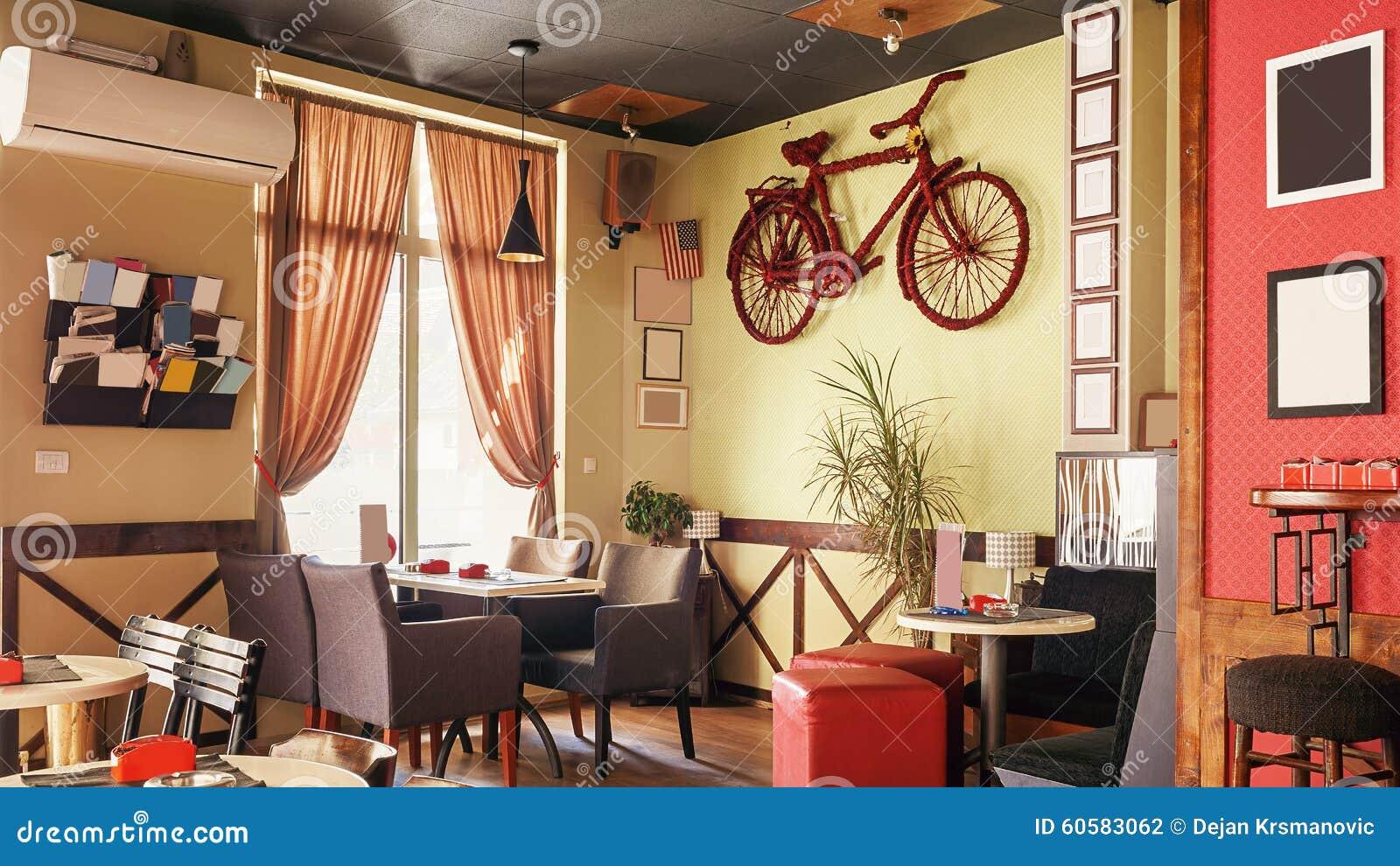 Rc Furniture Interior Design Stock Dealer ~ Retro interior design of cafe royalty free stock image