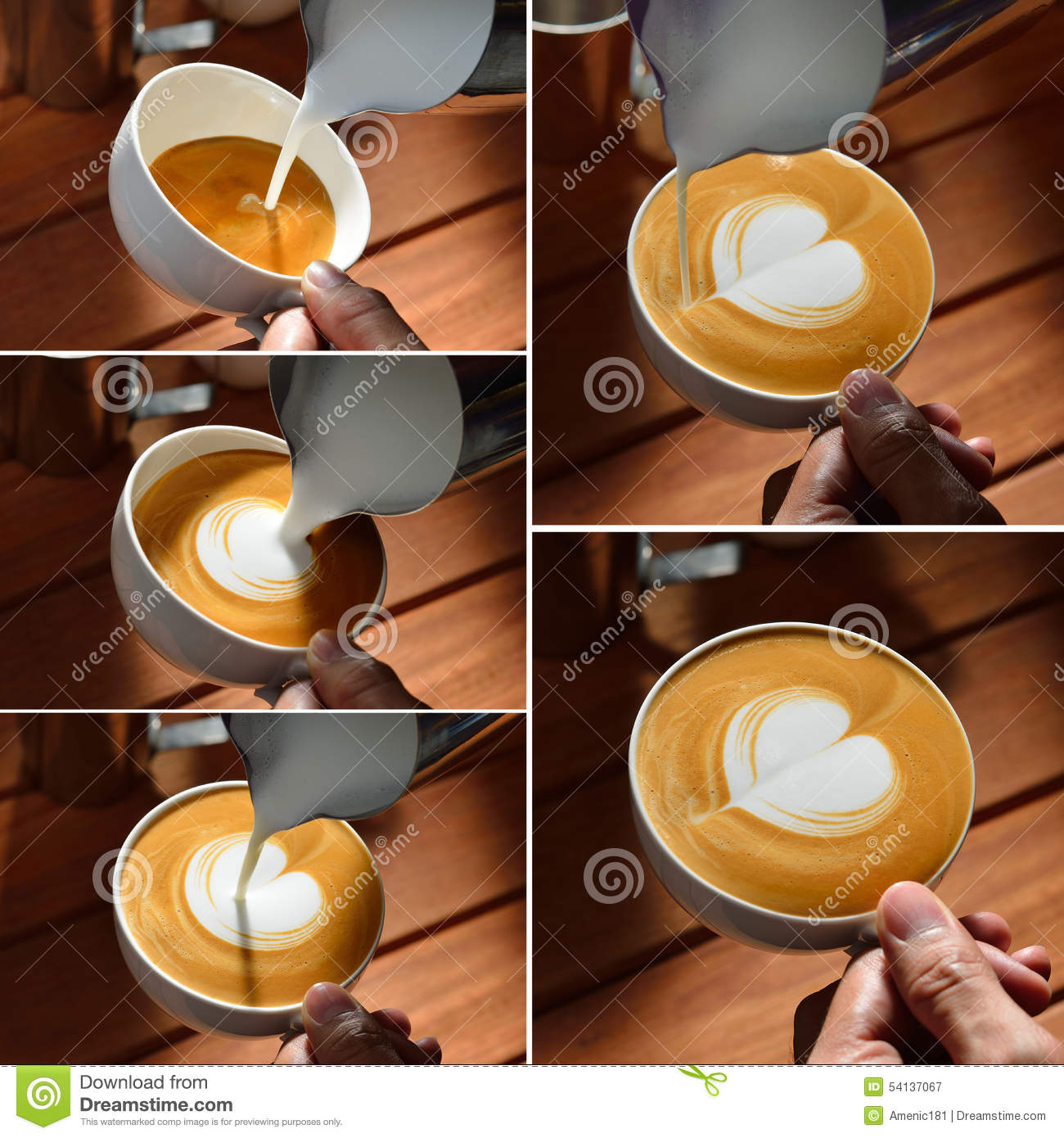 Cafe Latte Art Stock Image. Image Of Aroma, Drink