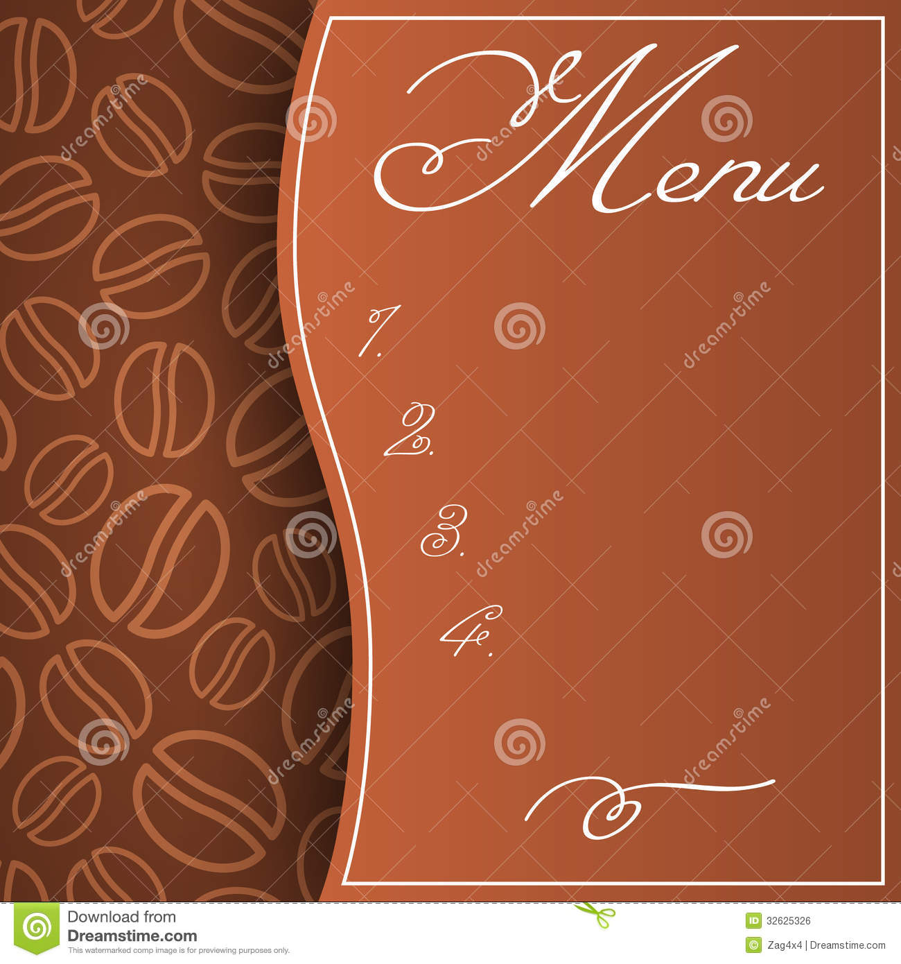 Cafe Menu Ro... Coffee Beans And Cup Background