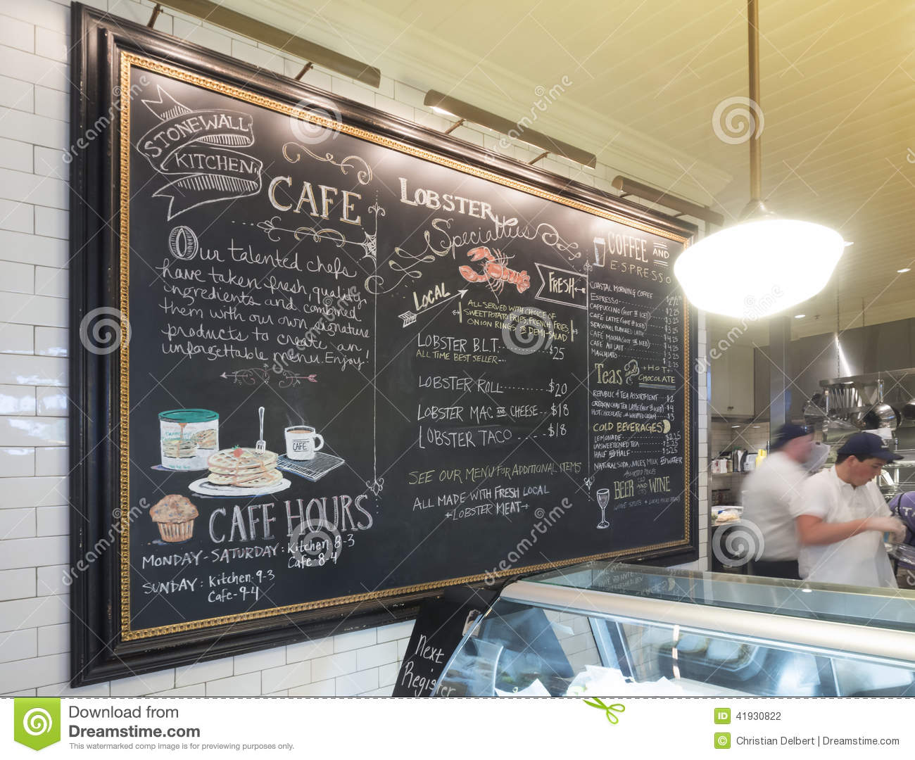 Cafe Menu Board Editorial Photography Image 41930822