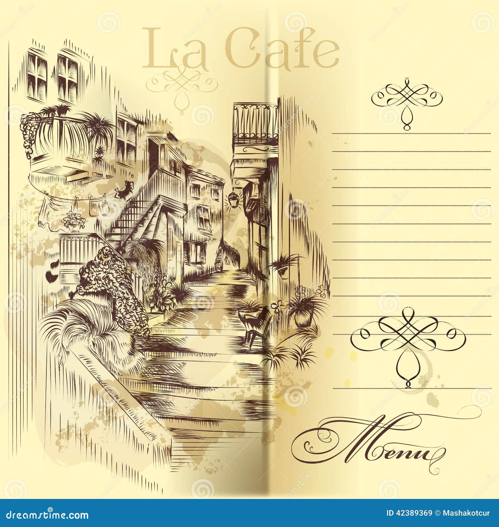 European Street Cafe Menu With Prices