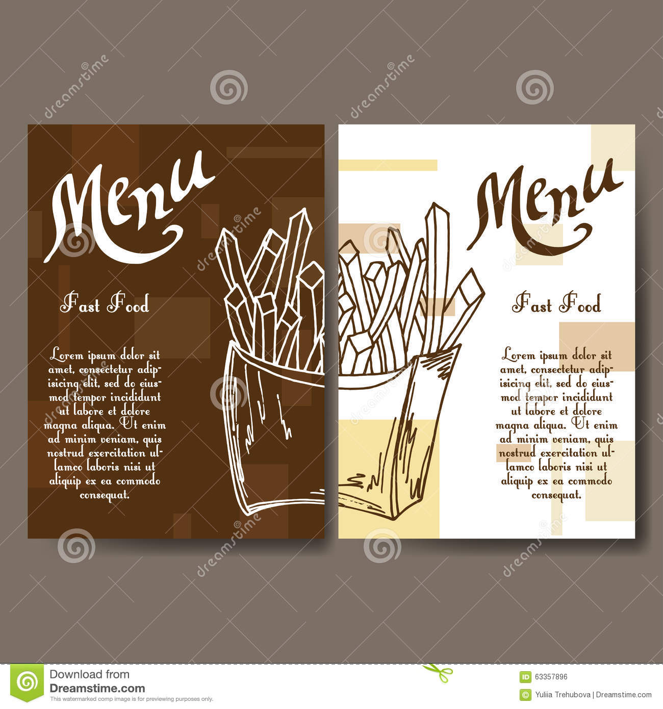 Fast Food Menu Template And Corporate Identity Vector