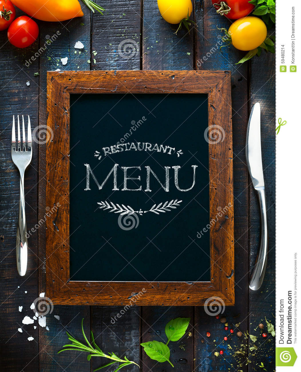 Cafe menu restaurant brochure. Food design template
