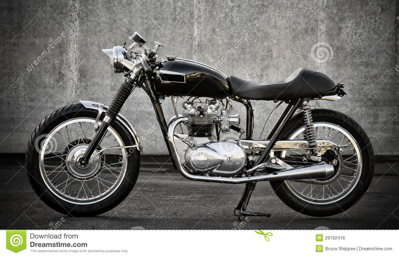 Cafe Racer Motorcycle Stock Photo Image Of Handlebars