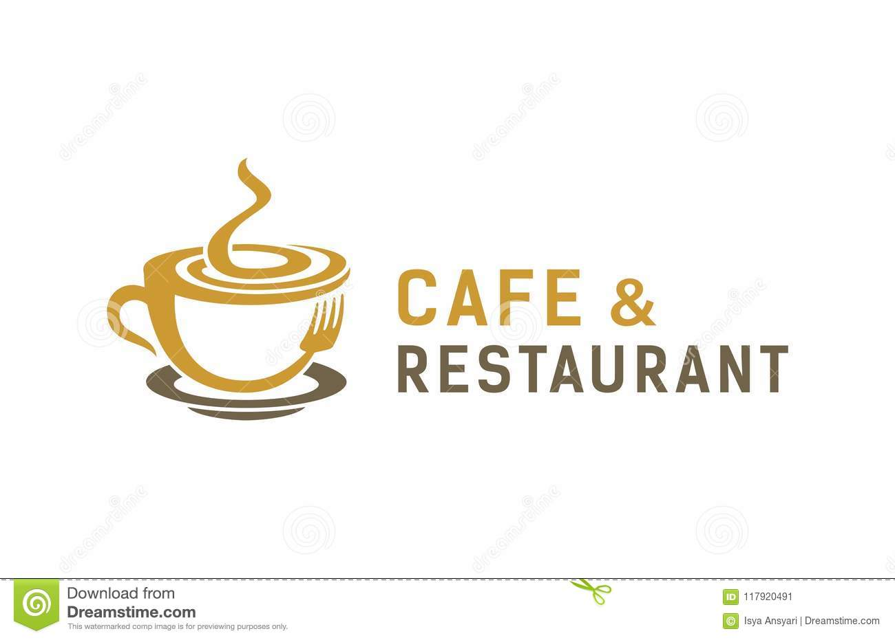 Cafe Restaurant Logo Design Stock Vector Illustration Of Abstract Printing 117920491