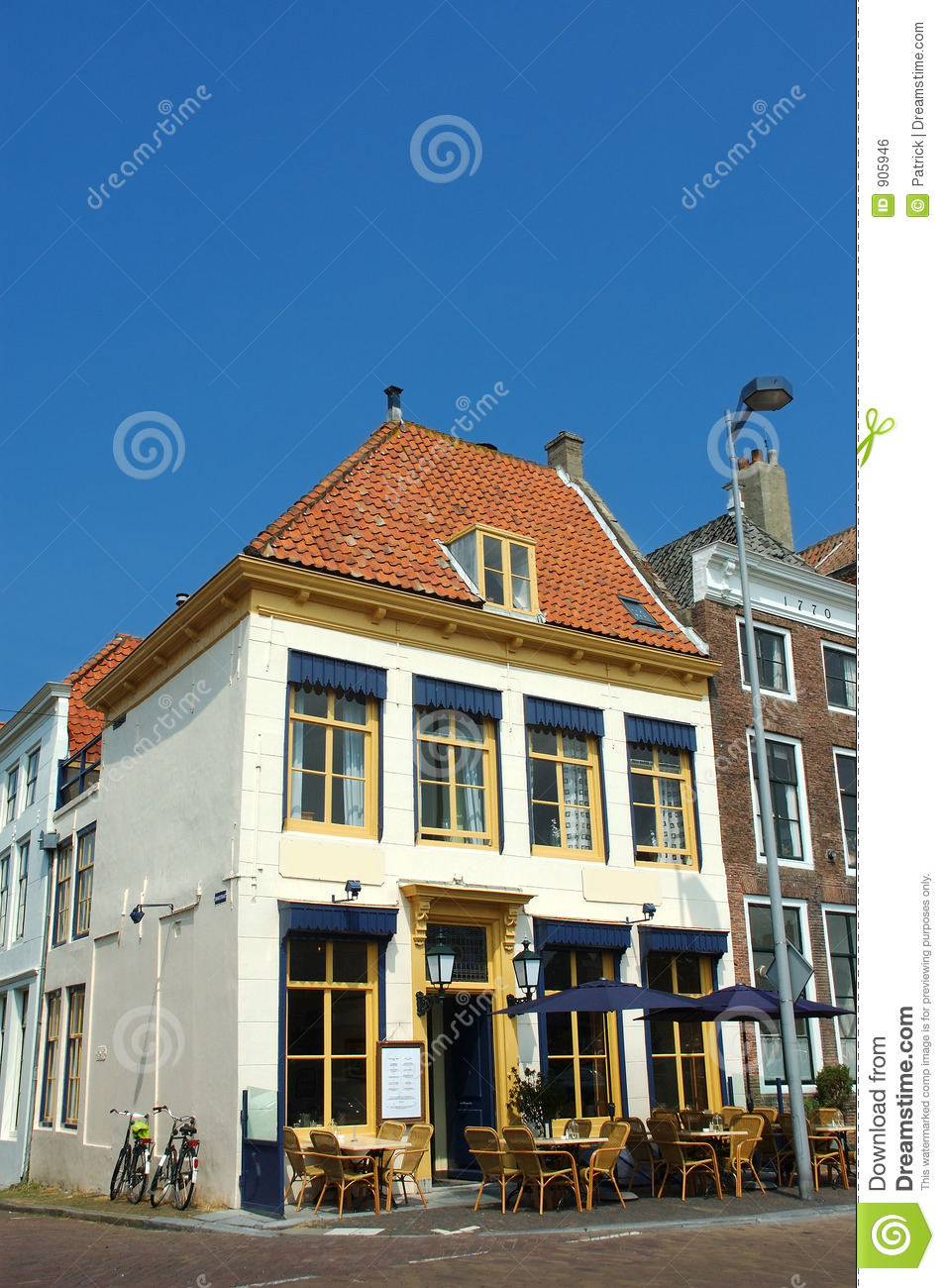 Cafe restaurant with terrace royalty free stock image for Restaurant with terrace