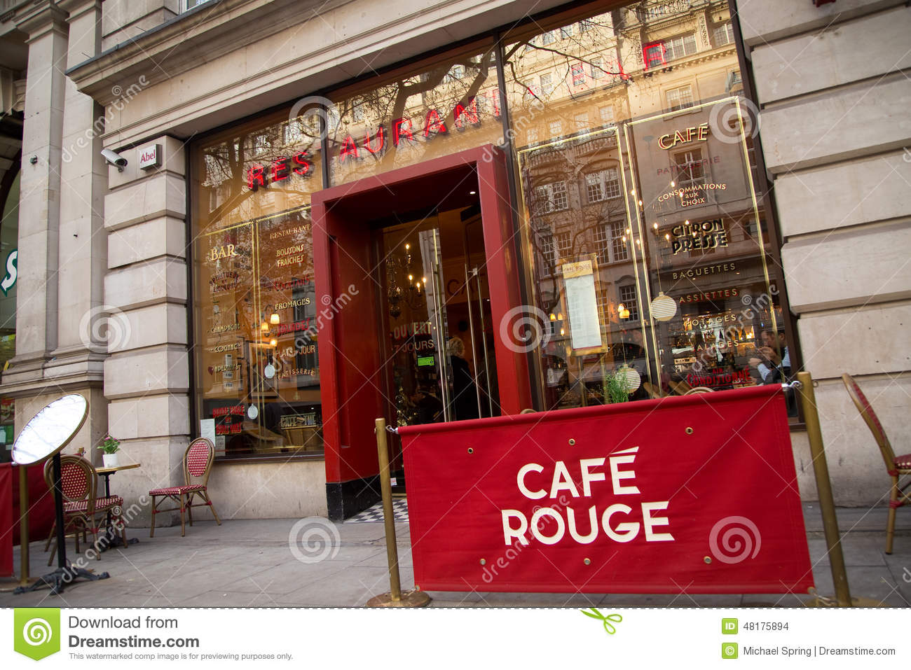 Cafe Rouge Editorial Stock Image Image 48175894